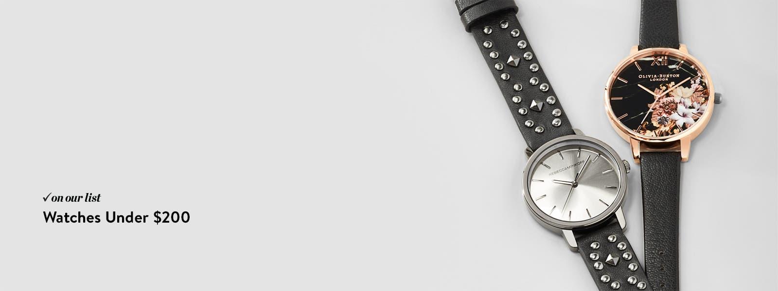 Watches under $200.