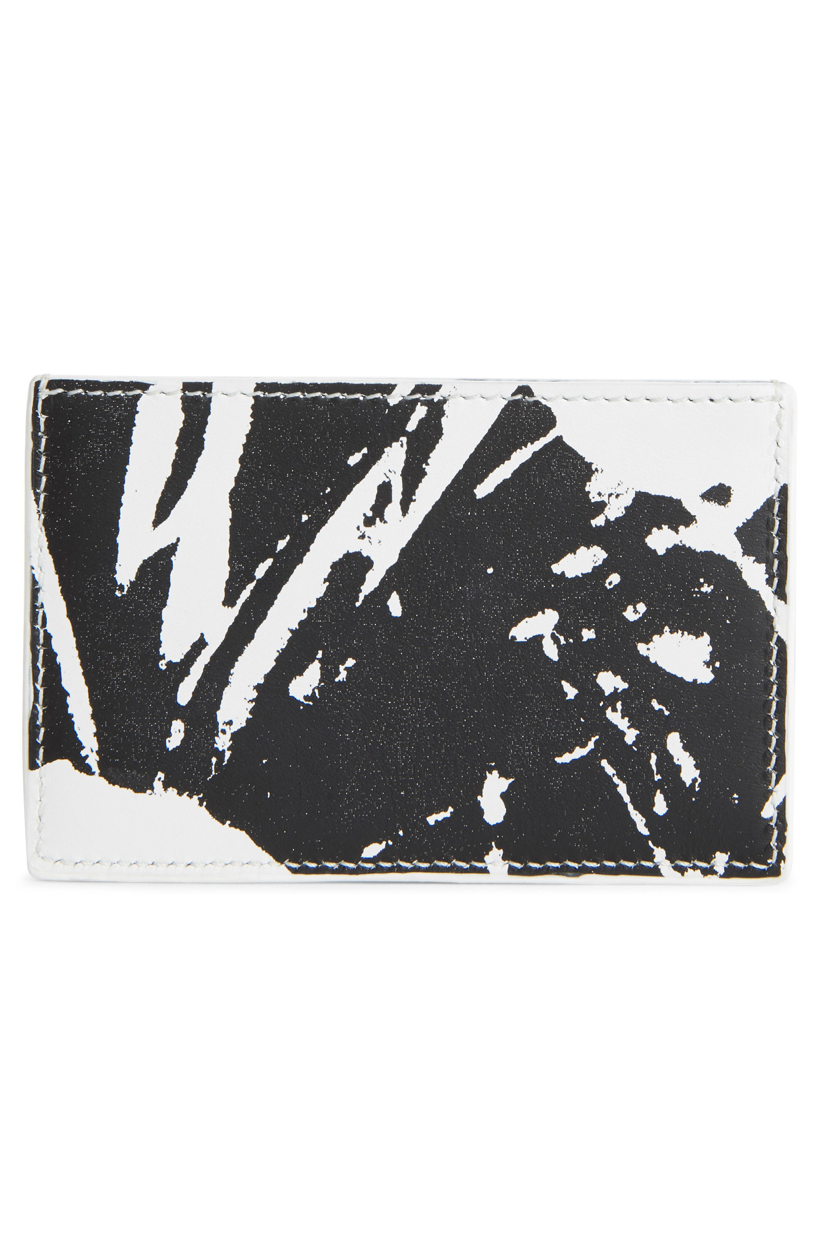 x Andy Warhol Foundation Small Card Case,                             Alternate thumbnail 2, color,                             WHITE/ BLACK