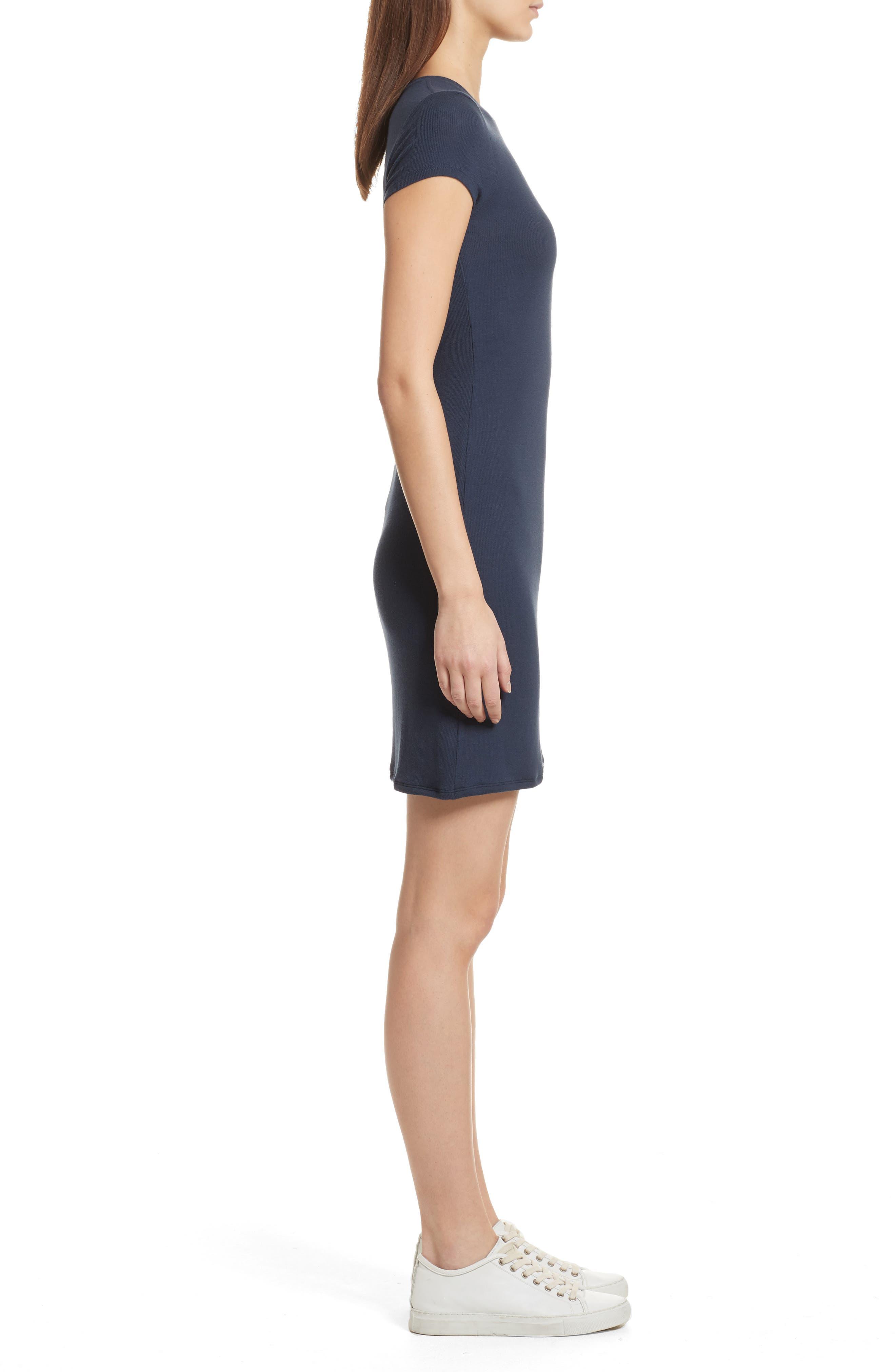 Knit Stretch Modal Dress,                             Alternate thumbnail 3, color,