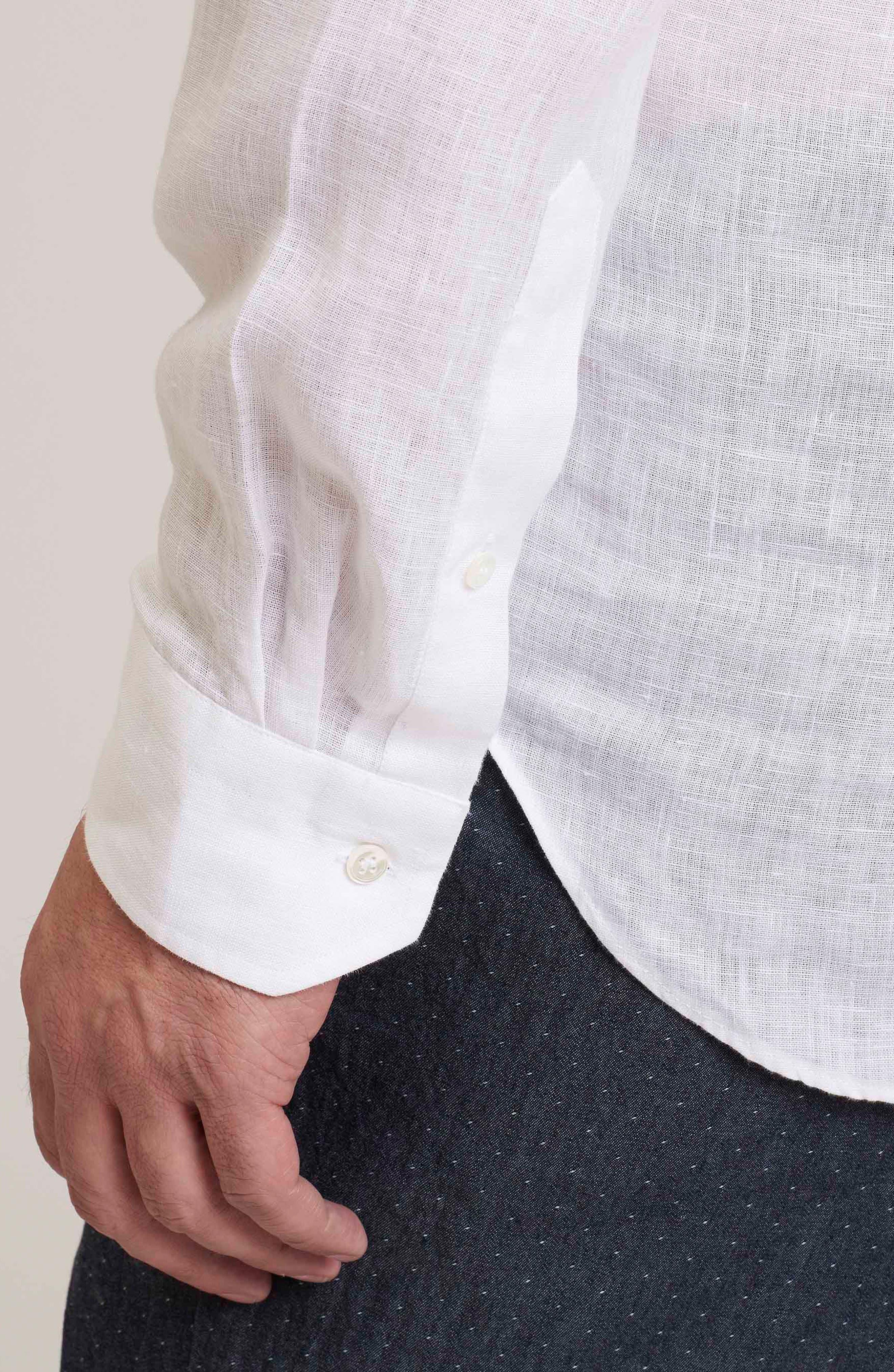 Delave Regular Fit Linen Sport Shirt,                             Alternate thumbnail 7, color,                             100
