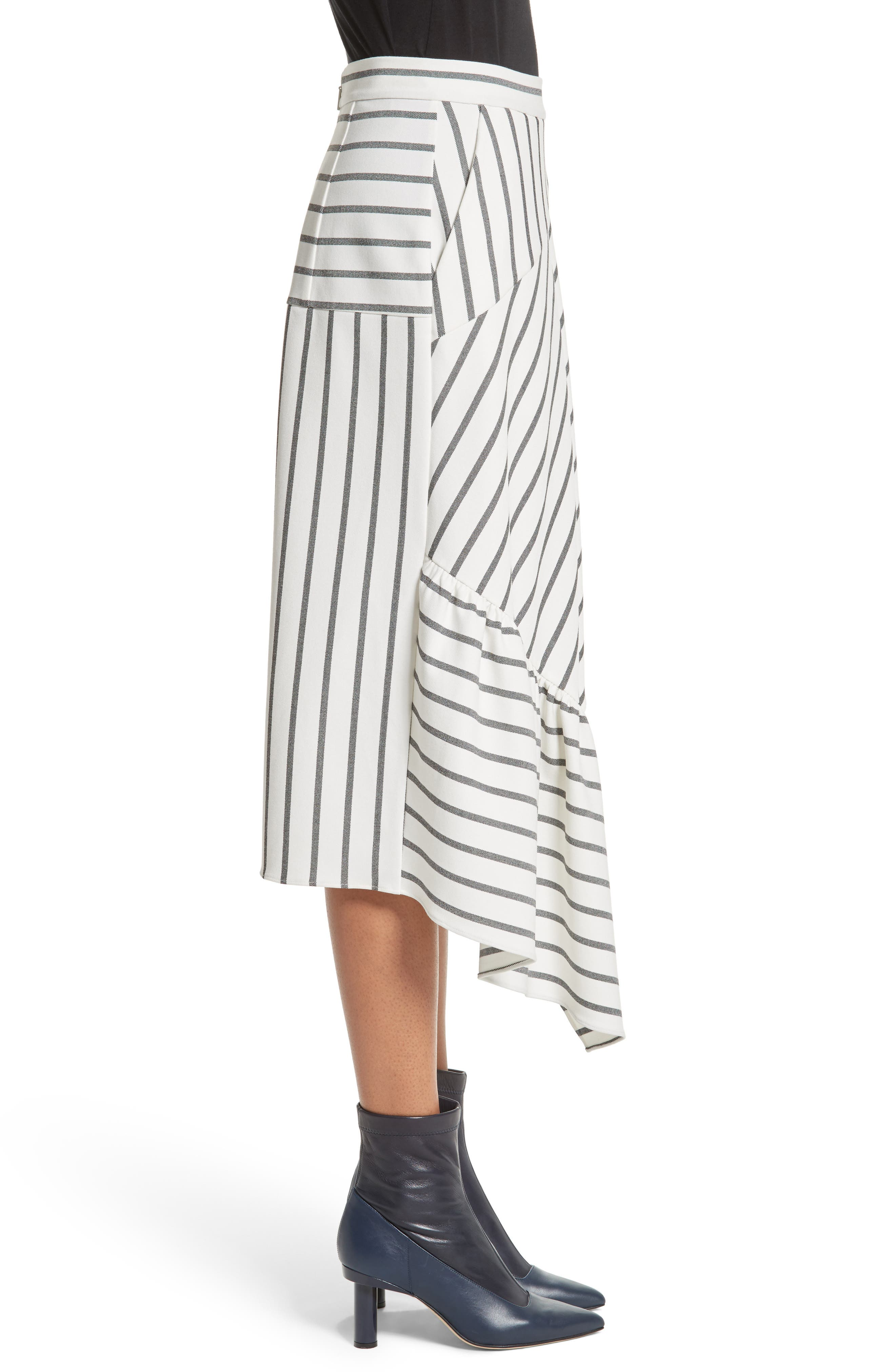 Lucci Stripe Midi Skirt,                             Alternate thumbnail 3, color,