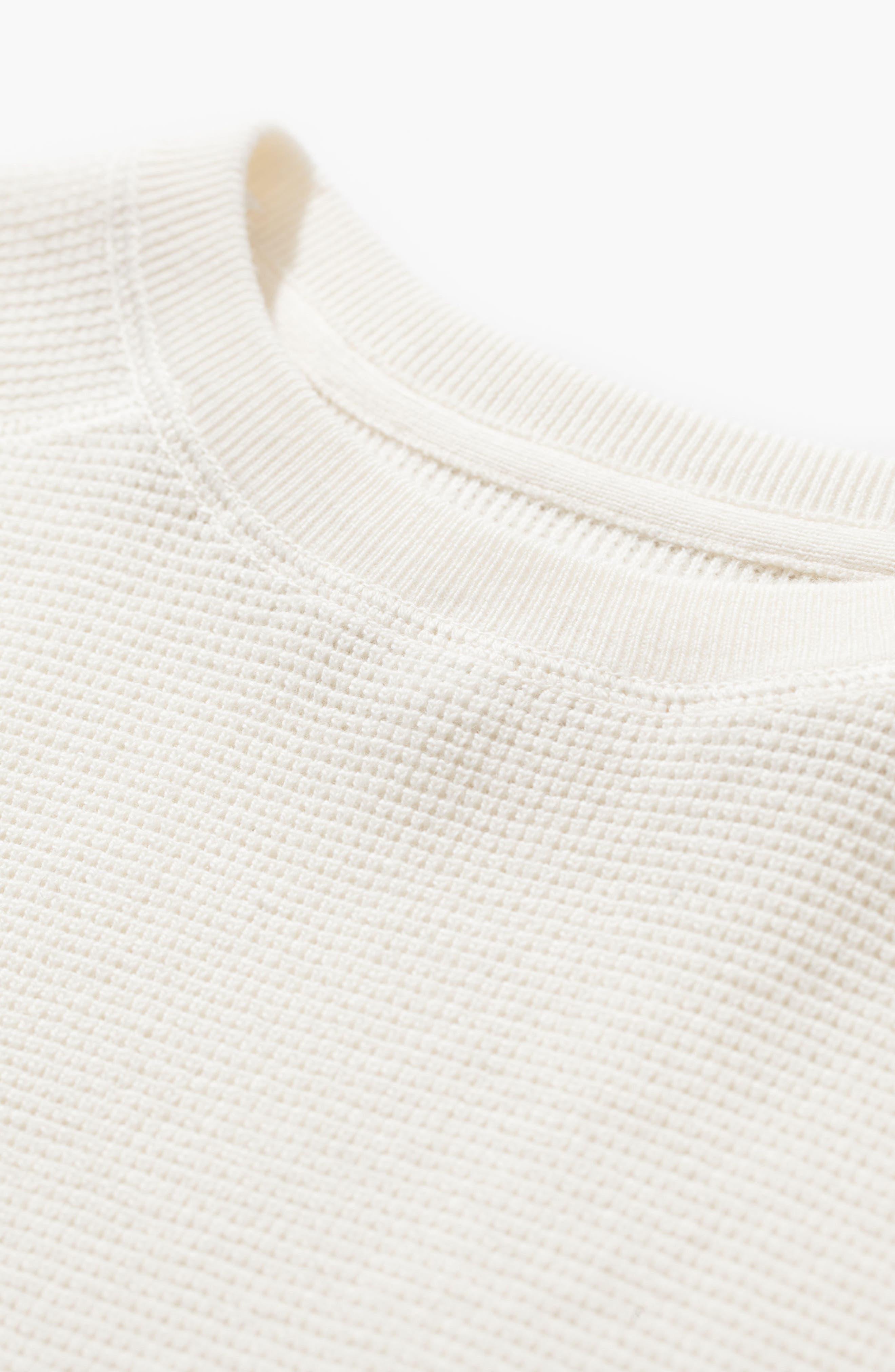 Lauge Waffle Knit Sweatshirt,                             Alternate thumbnail 3, color,                             101