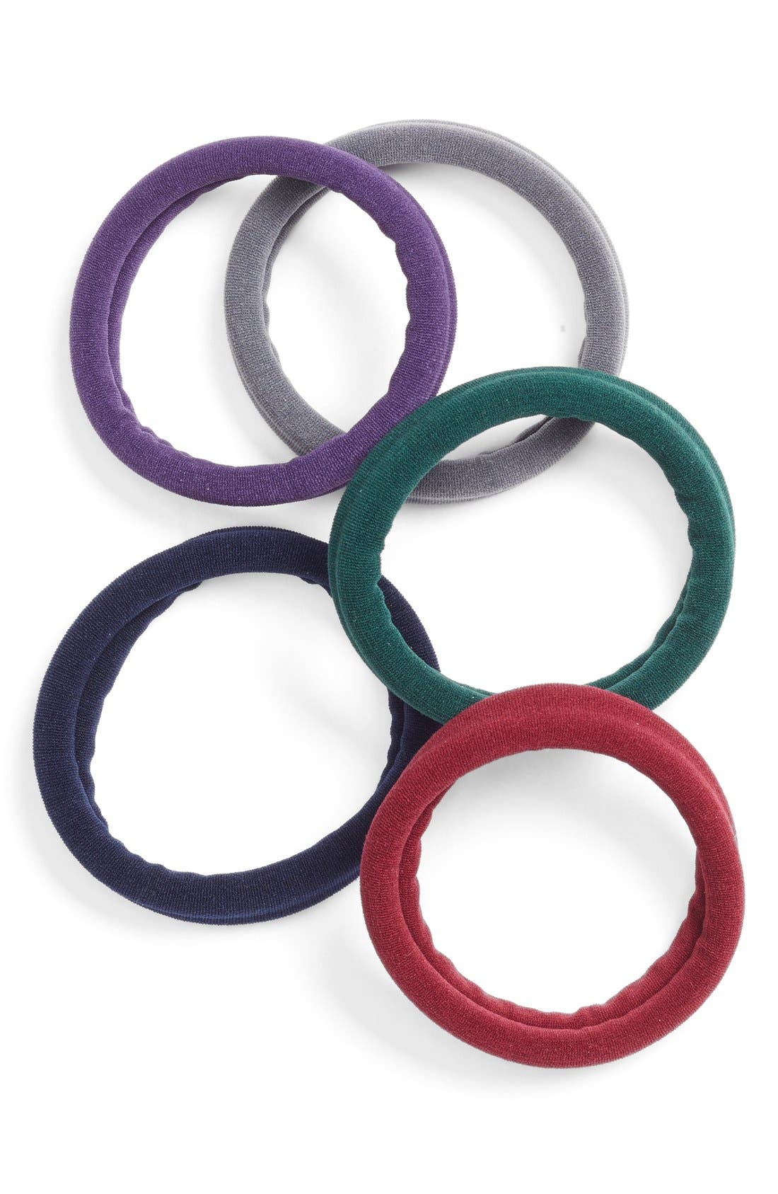 Set of 5 Sport Ponytail Holders,                             Main thumbnail 6, color,