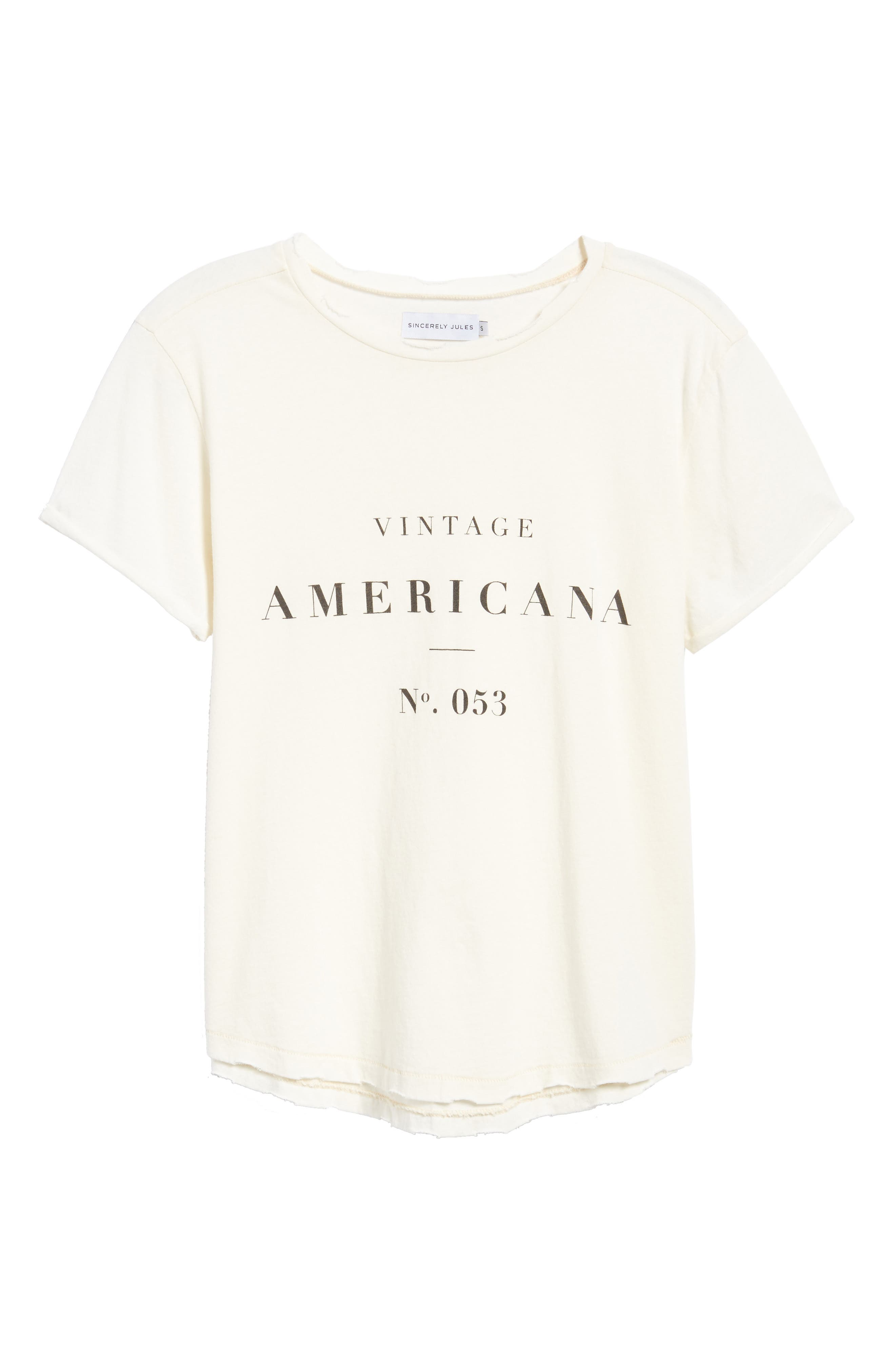 Americana Tee,                             Alternate thumbnail 6, color,