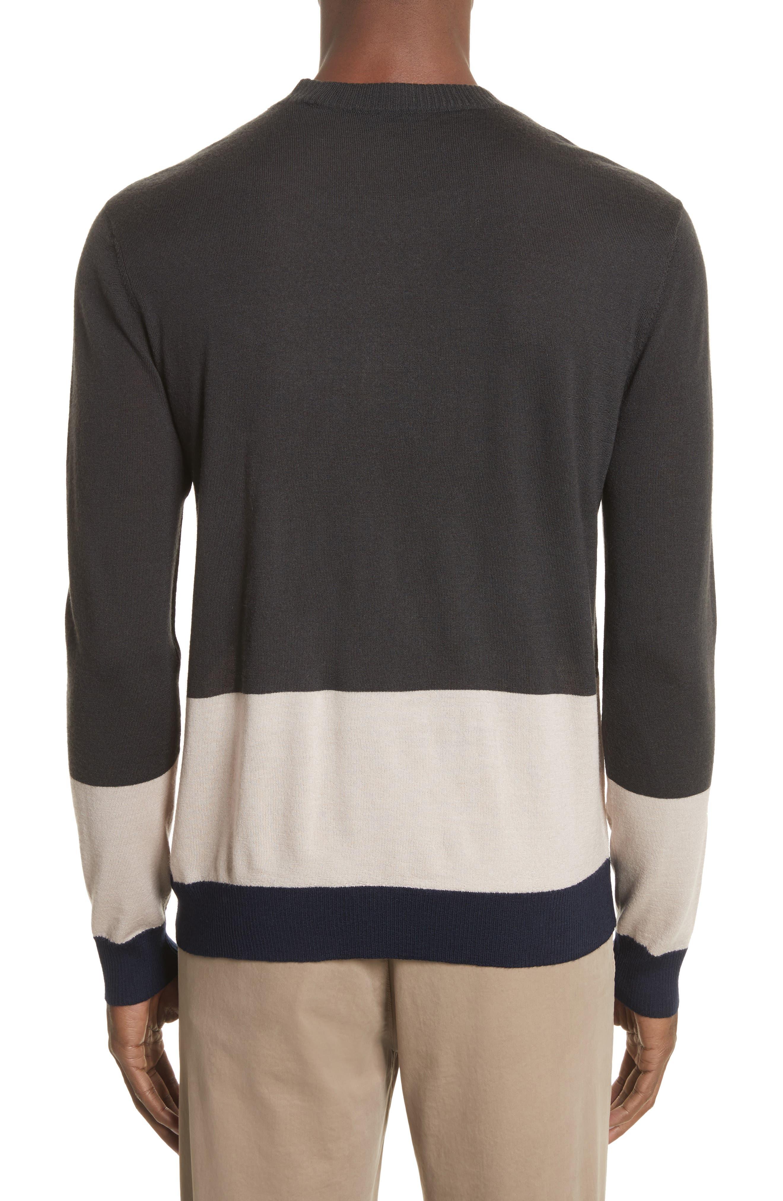 Colorblock Merino Wool Sweater,                             Alternate thumbnail 2, color,