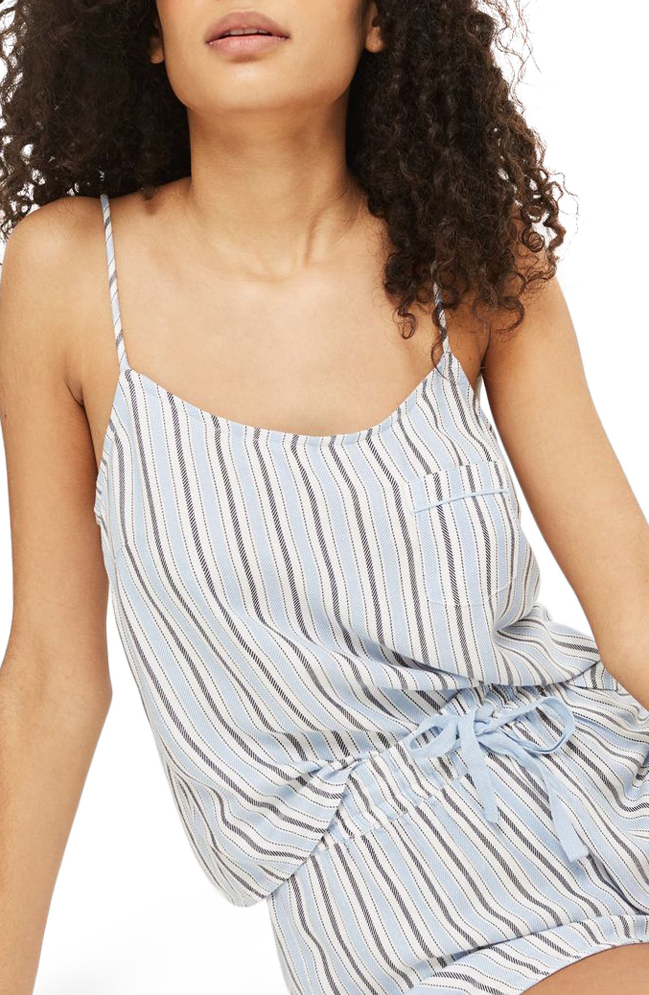 Bobby Stripe Pajama Tank,                             Alternate thumbnail 2, color,