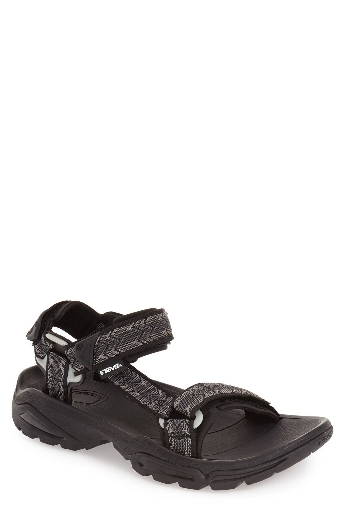 'Terra Fi 4' Sandal,                             Main thumbnail 1, color,                             CROSS TERRA BLACK