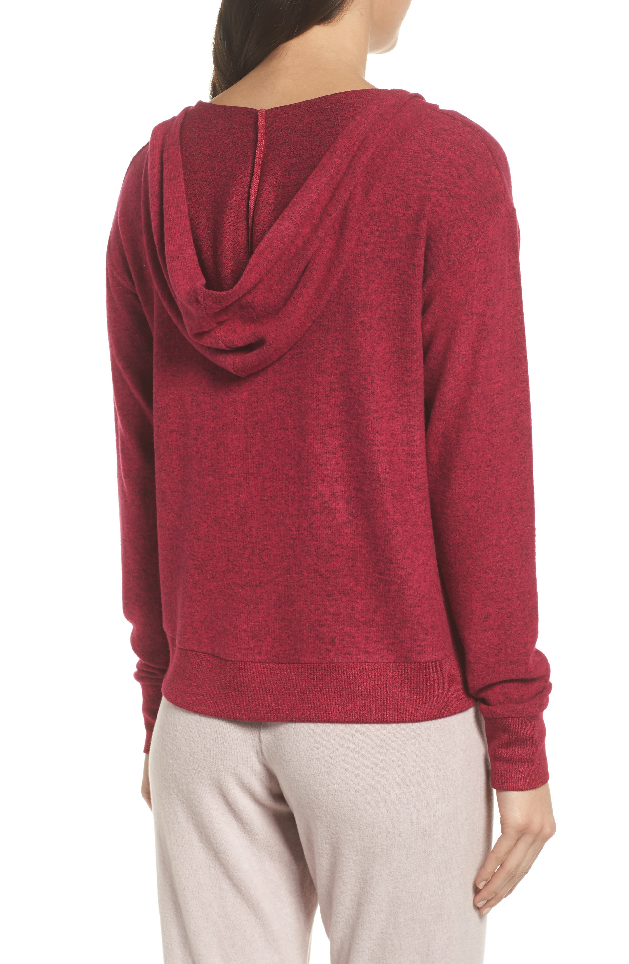 Brushed Hacci Hoodie,                             Alternate thumbnail 10, color,