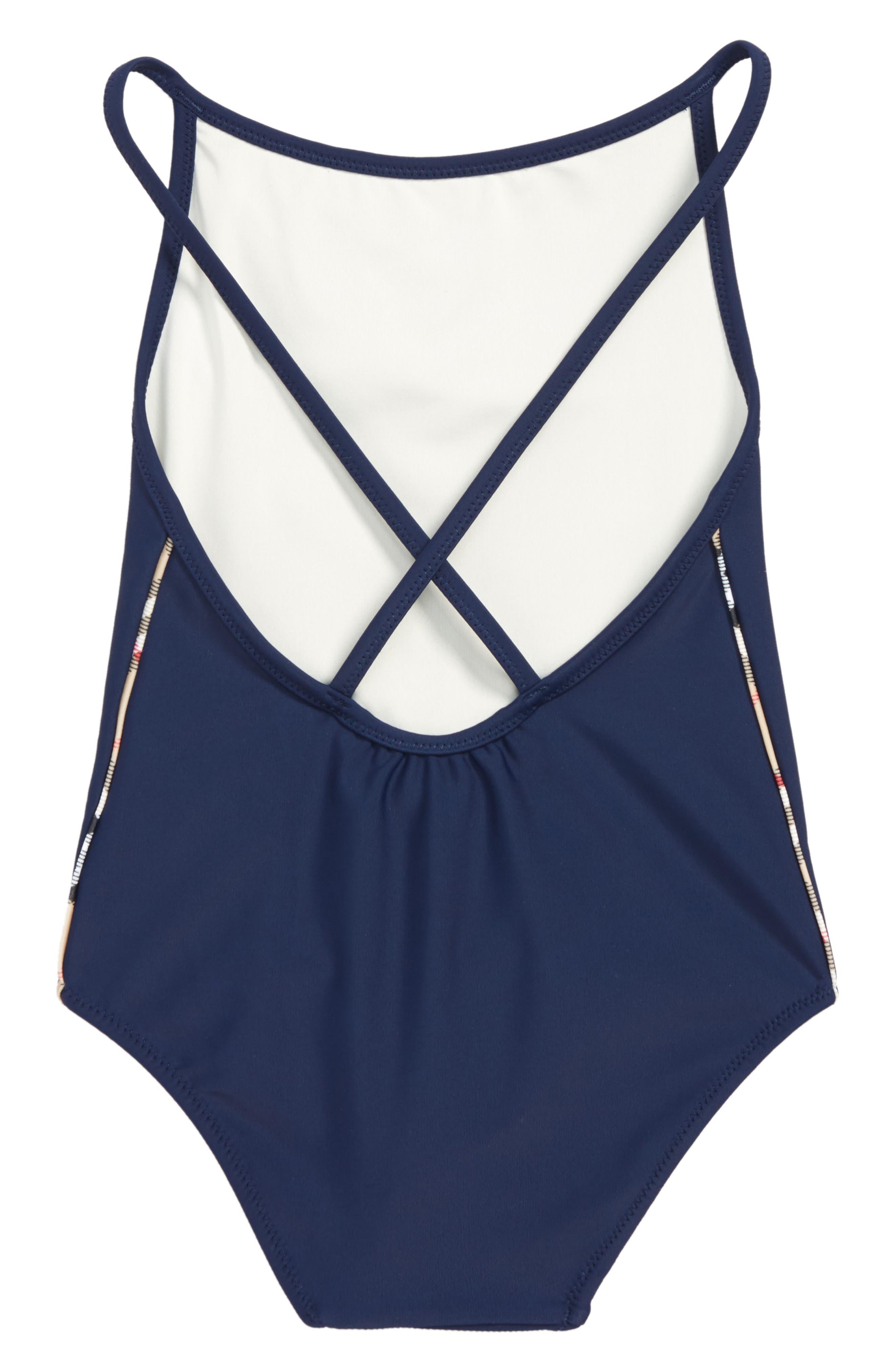 Sandine One-Piece Swimsuit,                             Alternate thumbnail 2, color,                             NAVY