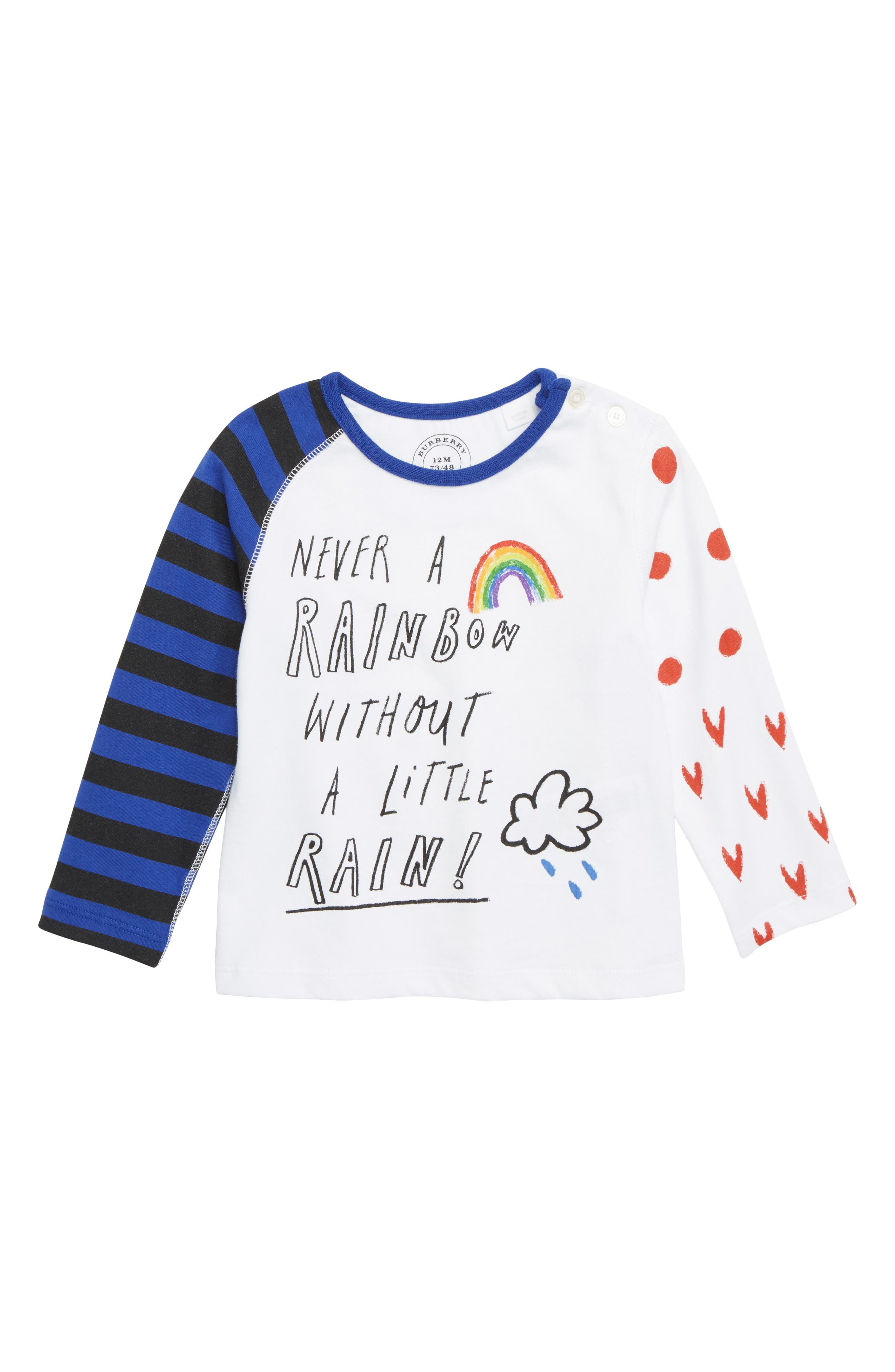 Never a Rainbow Without a Little Rain Tee,                             Main thumbnail 1, color,                             WHITE
