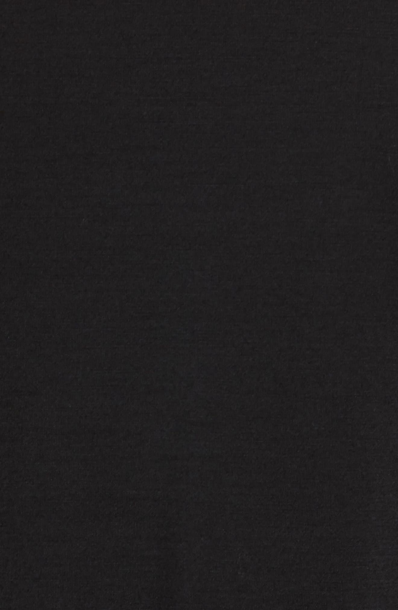 Merino 150 Wool Blend Polo Shirt,                             Alternate thumbnail 5, color,                             BLACK