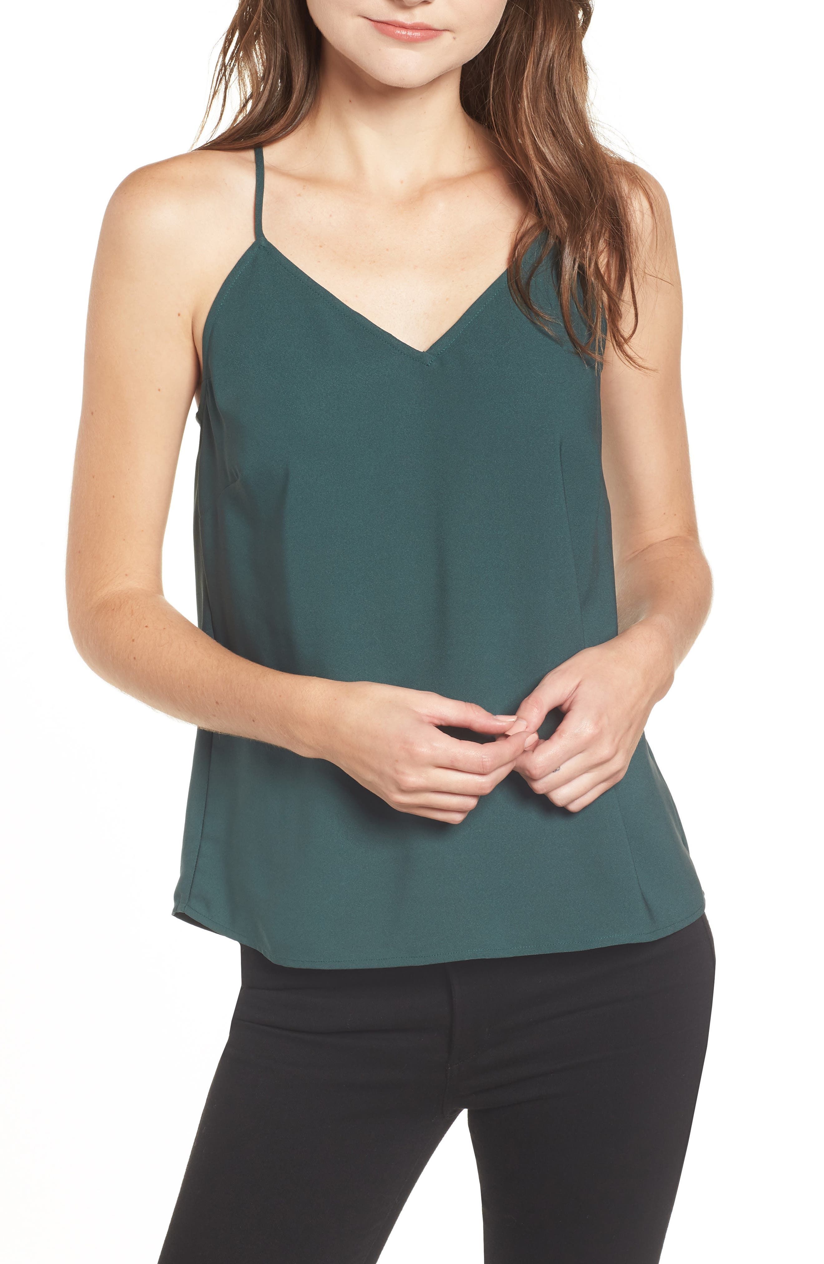 Chelsea28 Strappy Camisole, Green