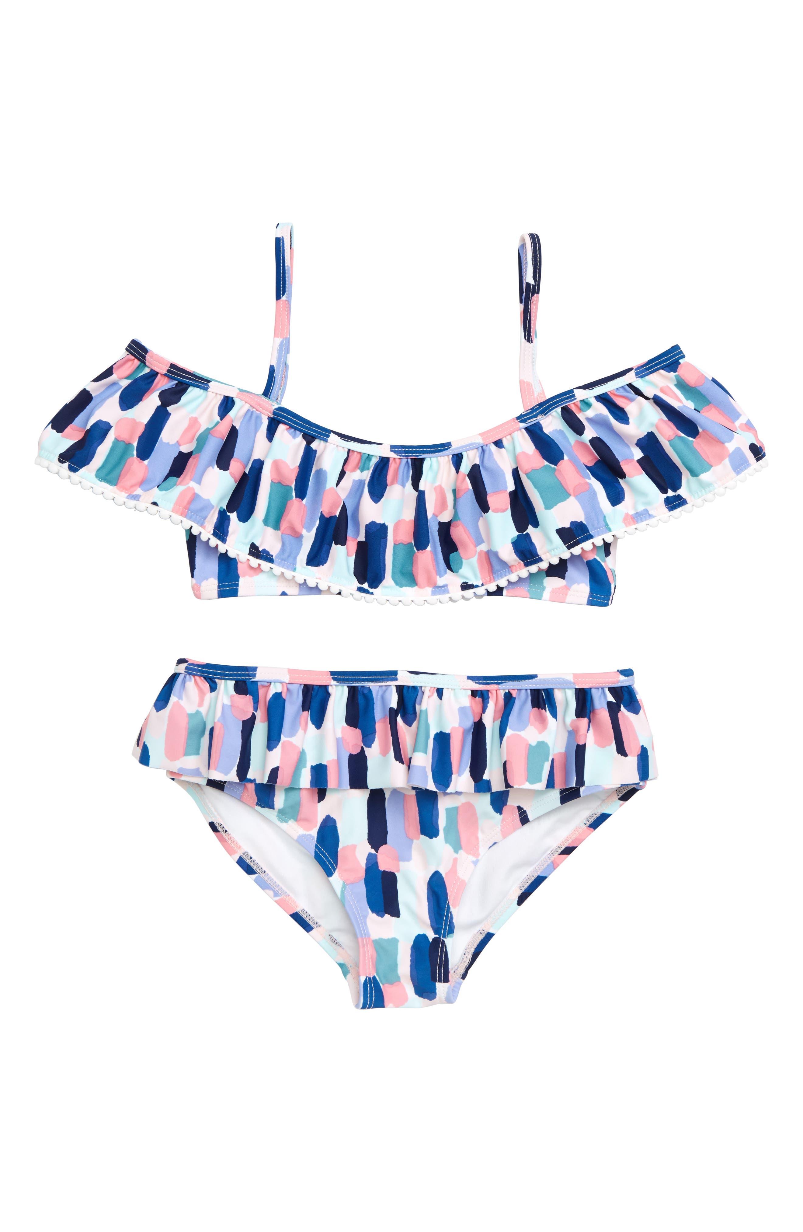 brush strokes 2-piece swimsuit,                             Main thumbnail 1, color,                             BRUSH STROKES