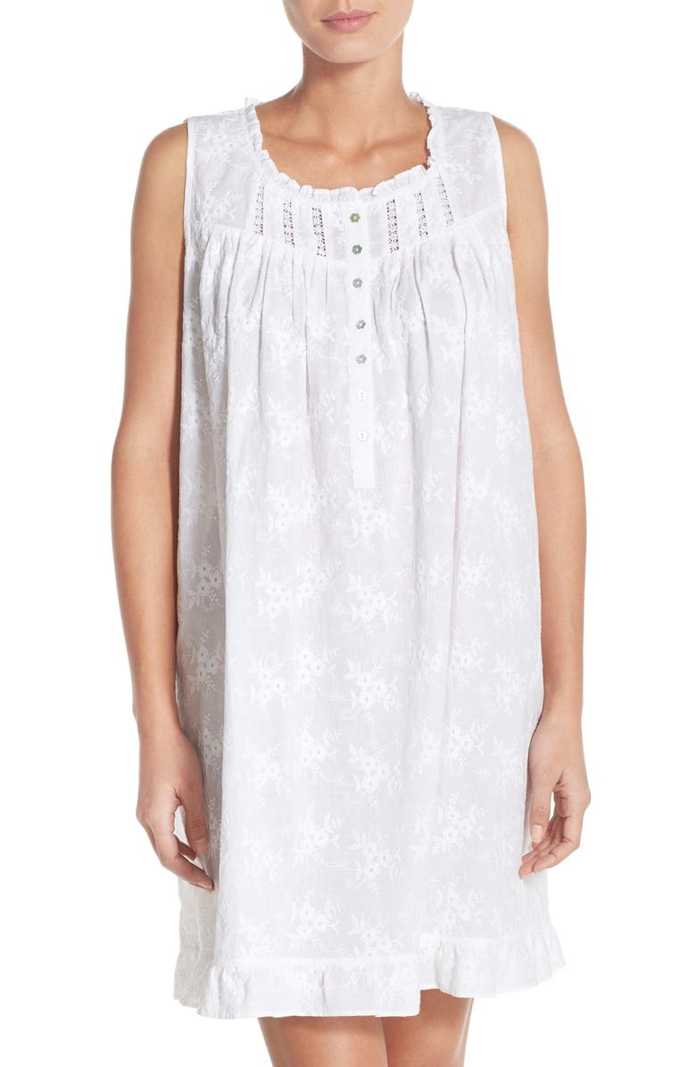 c516359aa2 Eileen West Embroidered Cotton Nightgown