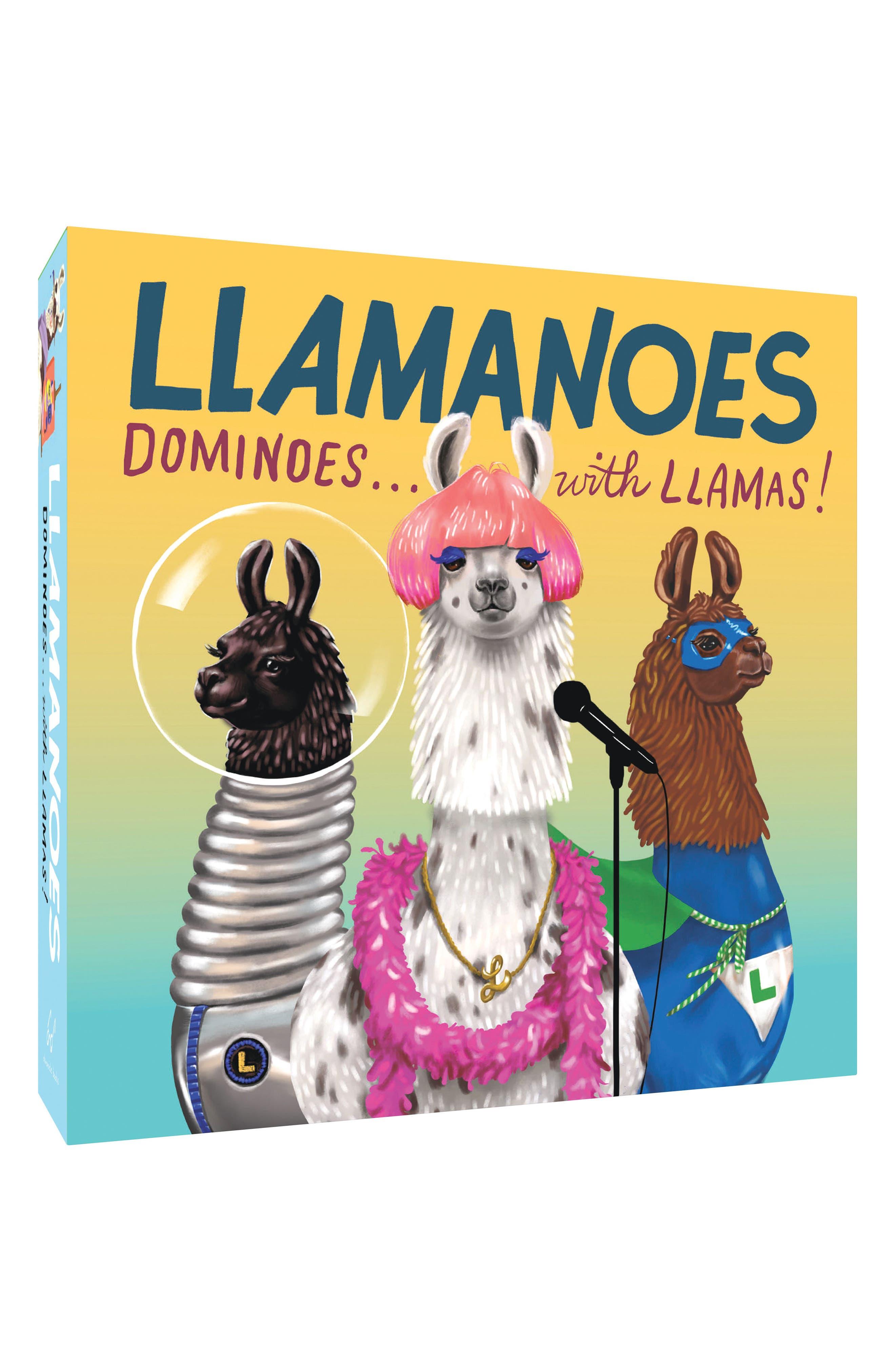 Chronicle Books Llamanoes Dominoes Game