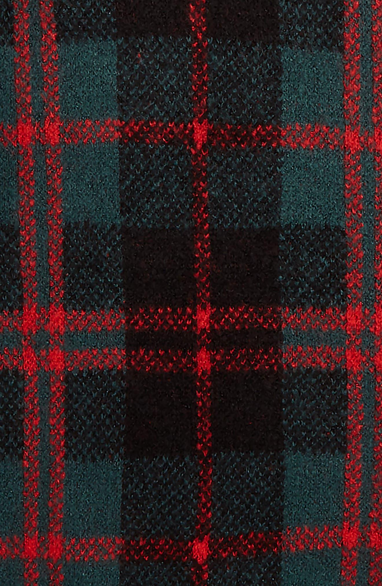 Tartan Plaid Sweater,                             Alternate thumbnail 2, color,                             GREEN BUG WINDOWPANE PLAID