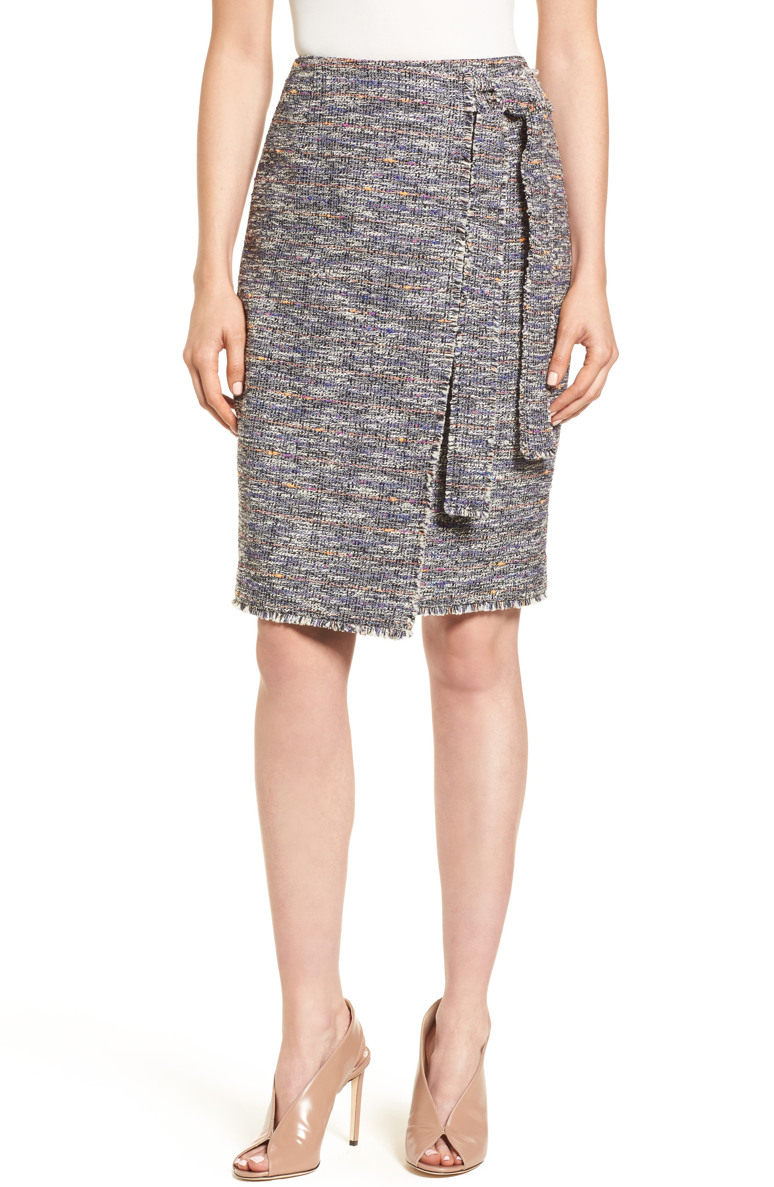 Tie Detail Pencil Skirt,                         Main,                         color, 001