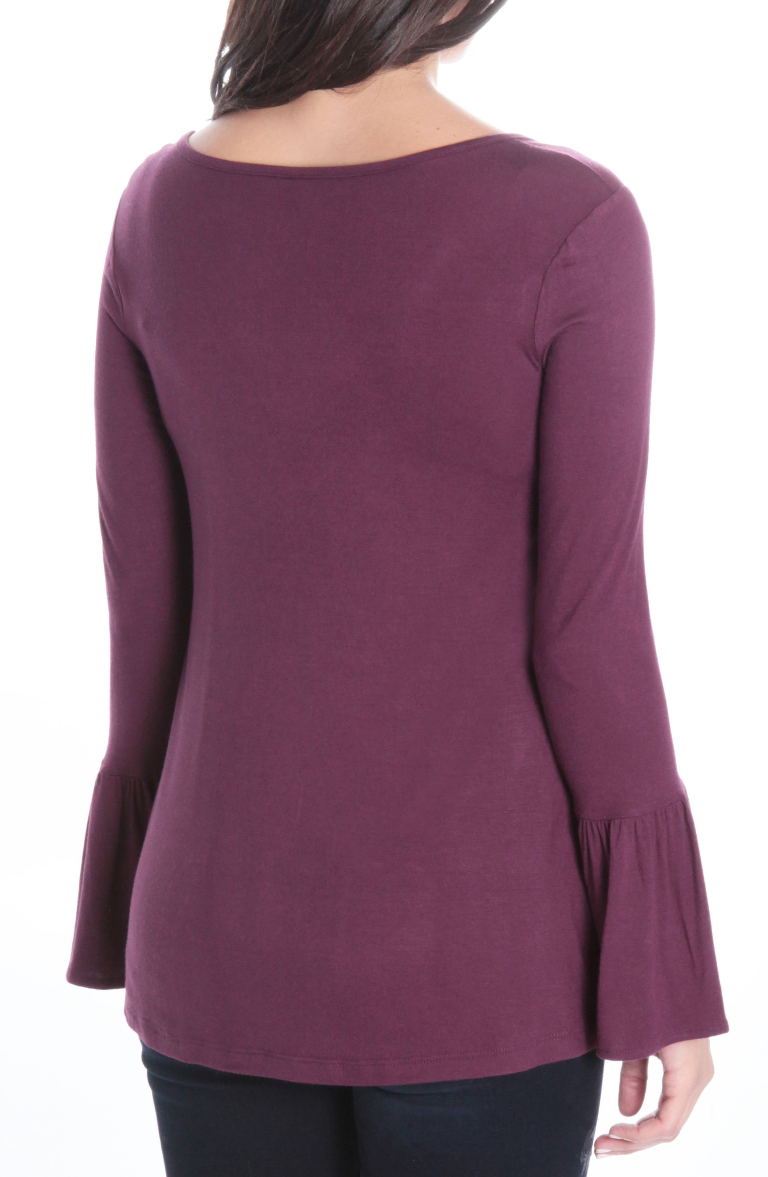 Winnie Bell Sleeve Top,                             Alternate thumbnail 2, color,                             936