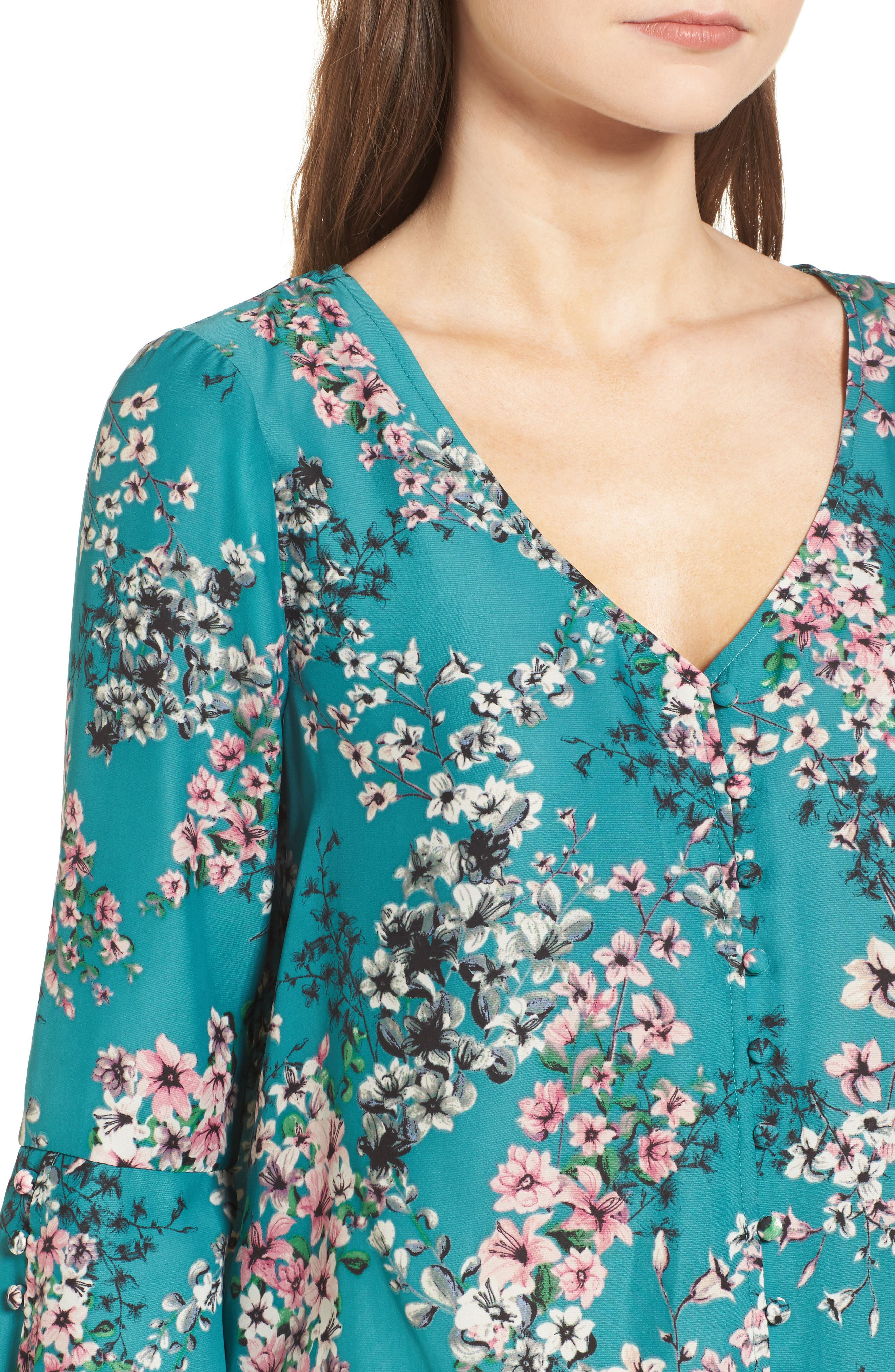 Nadette Floral Blouse,                             Alternate thumbnail 8, color,