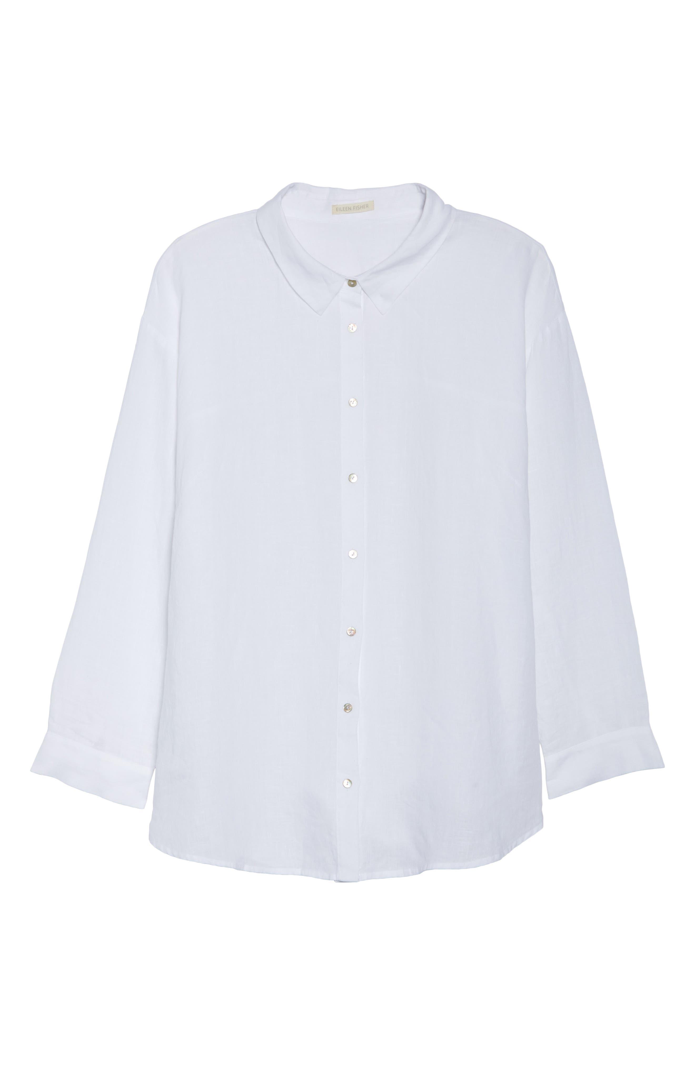 Organic Linen Shirt,                             Alternate thumbnail 7, color,                             100