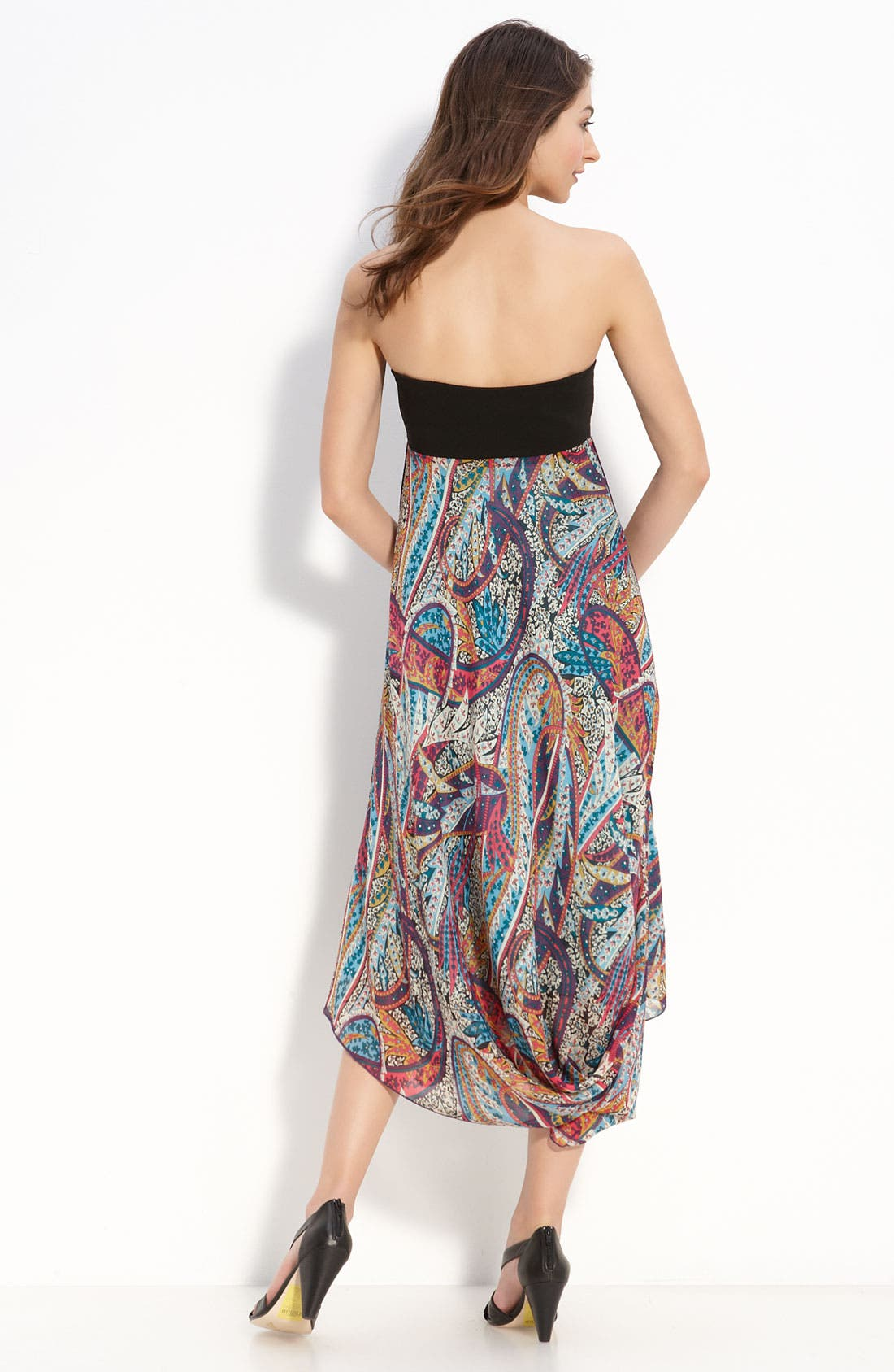 Print Silk Handkerchief Dress,                             Alternate thumbnail 2, color,                             440