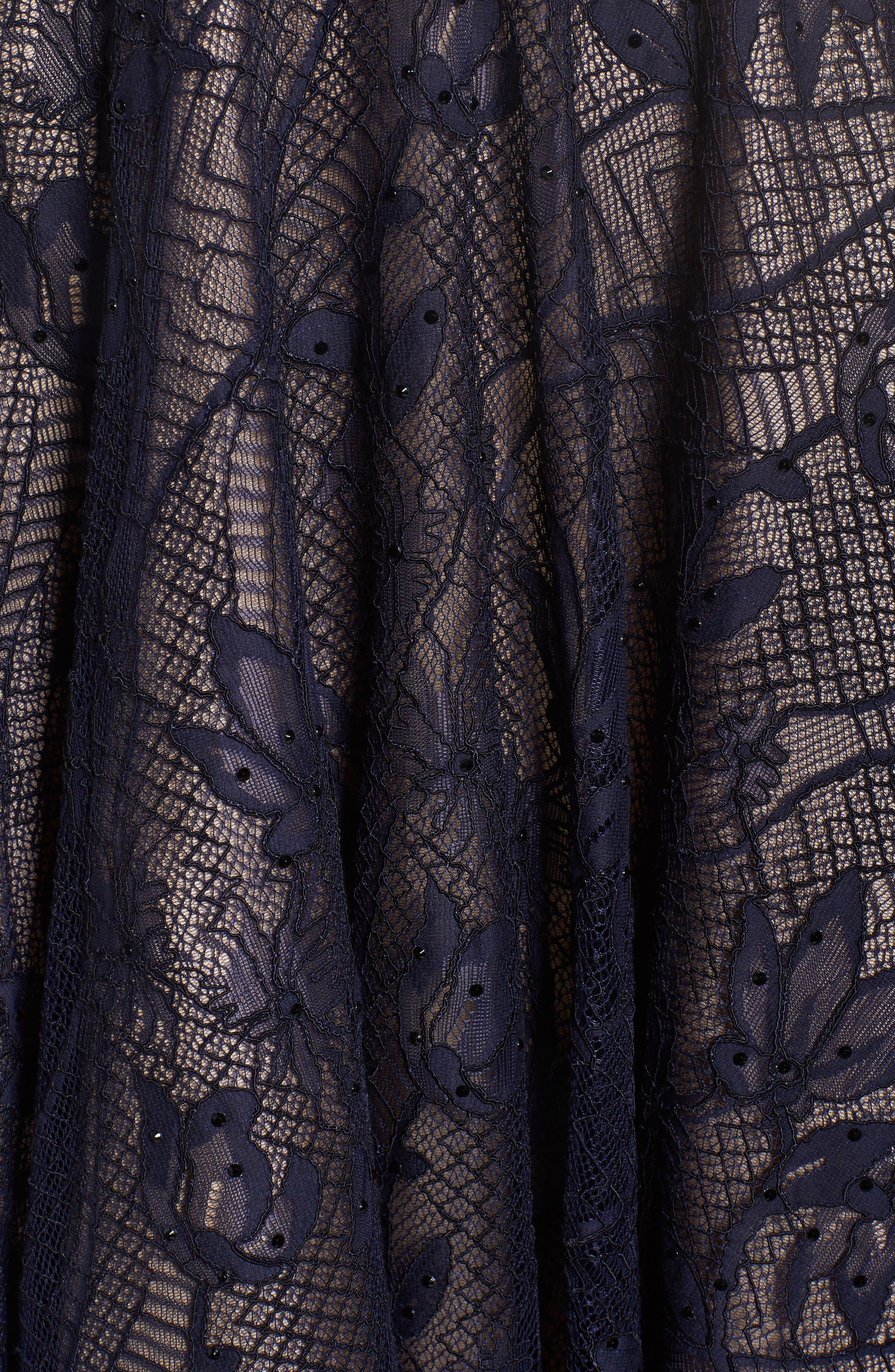 Open Back Lace A-Line Dress,                             Alternate thumbnail 5, color,                             405