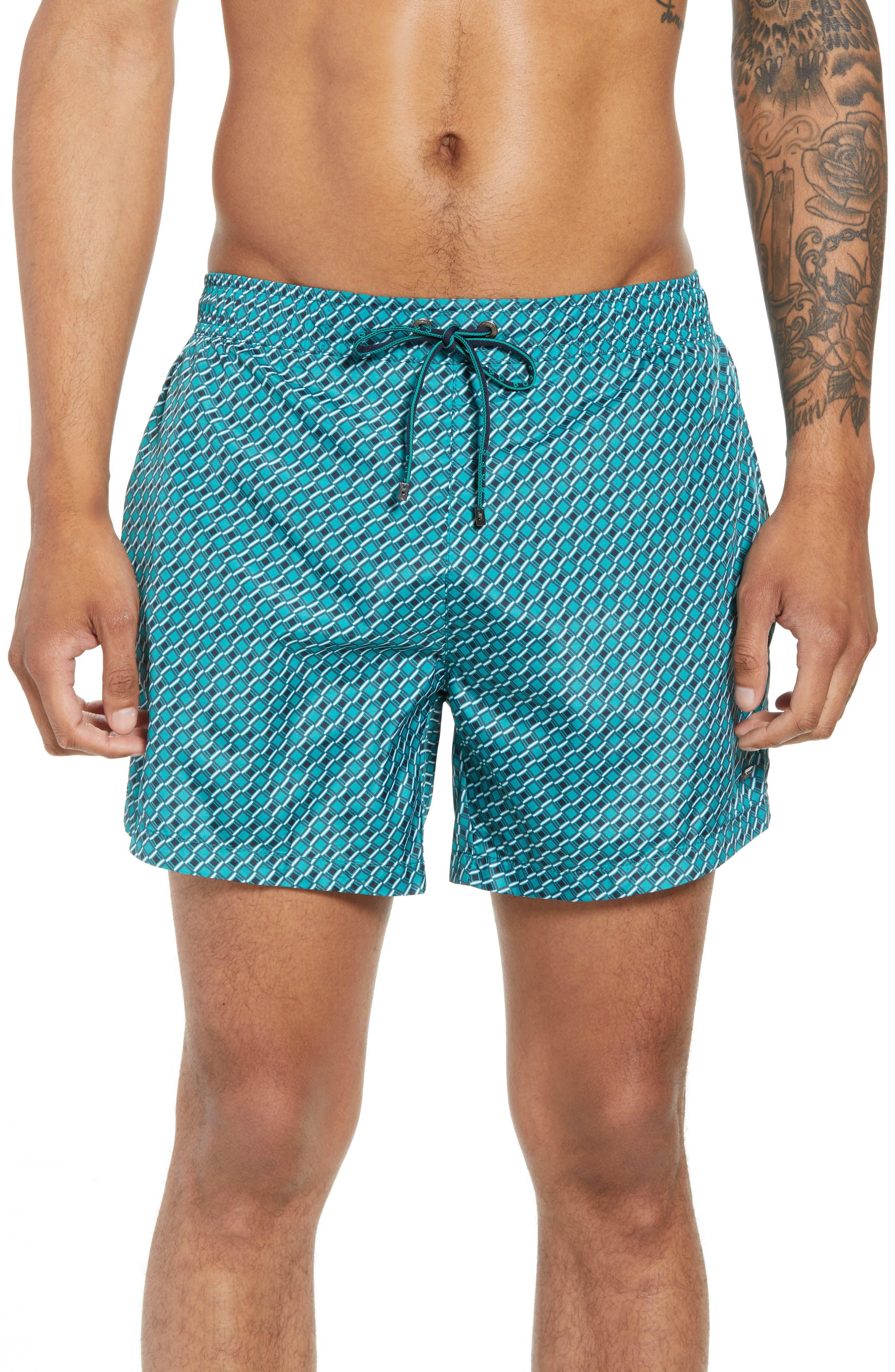 BOSS Promfret Swim Trunks, Main, color, 312