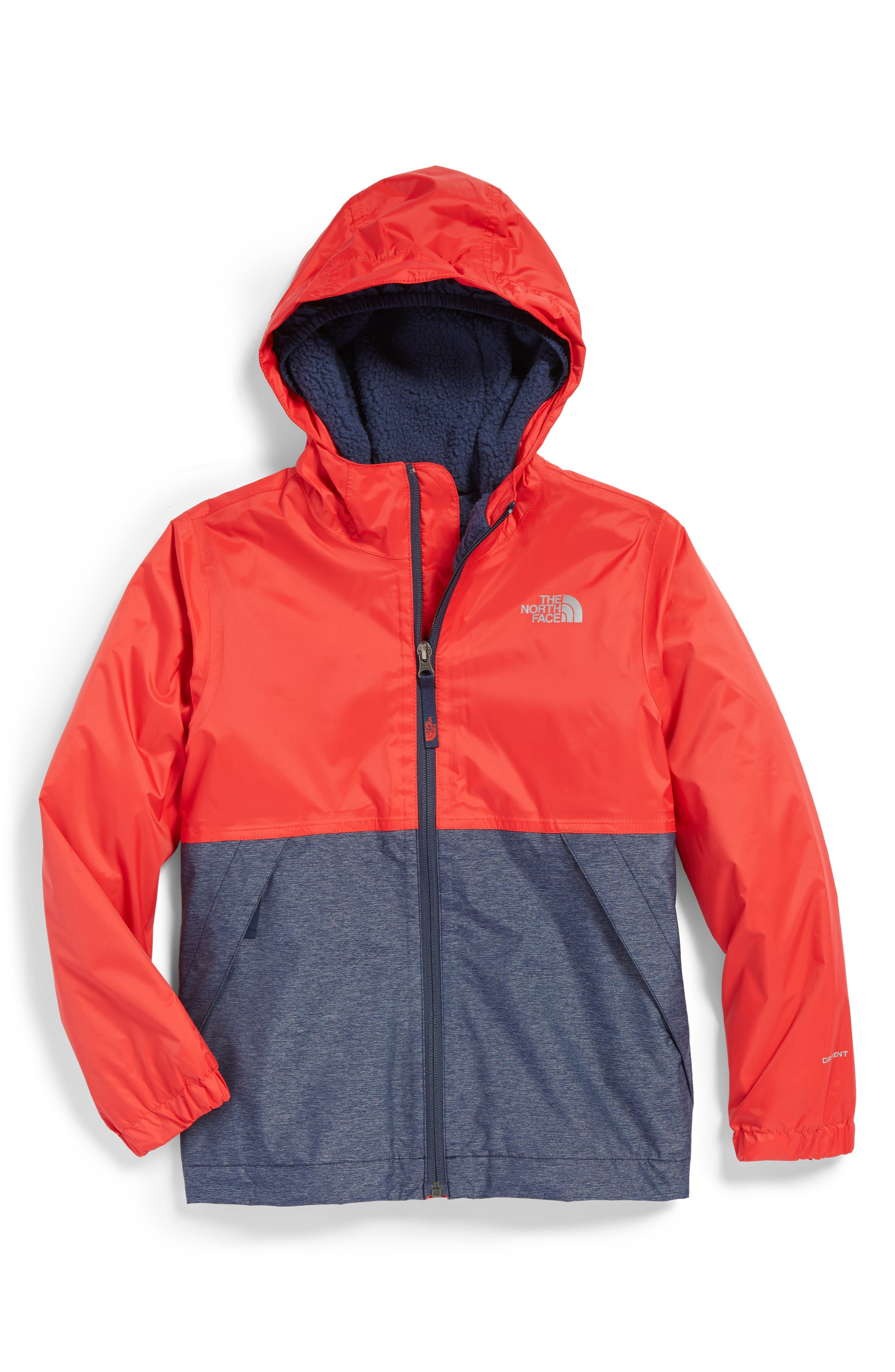 Warm Storm Hooded Waterproof Jacket,                             Main thumbnail 5, color,
