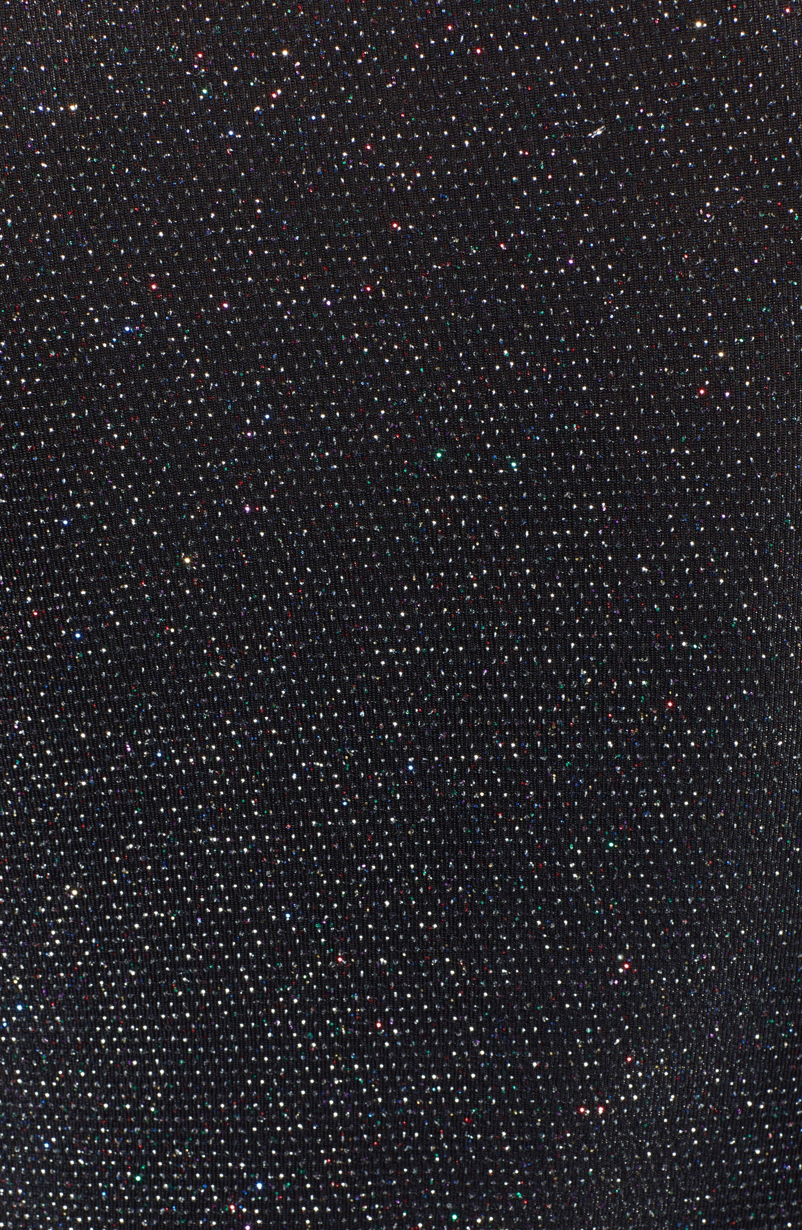 Sparkle Twist Front Bodysuit,                             Alternate thumbnail 5, color,                             BLACK MULTI GLITTER