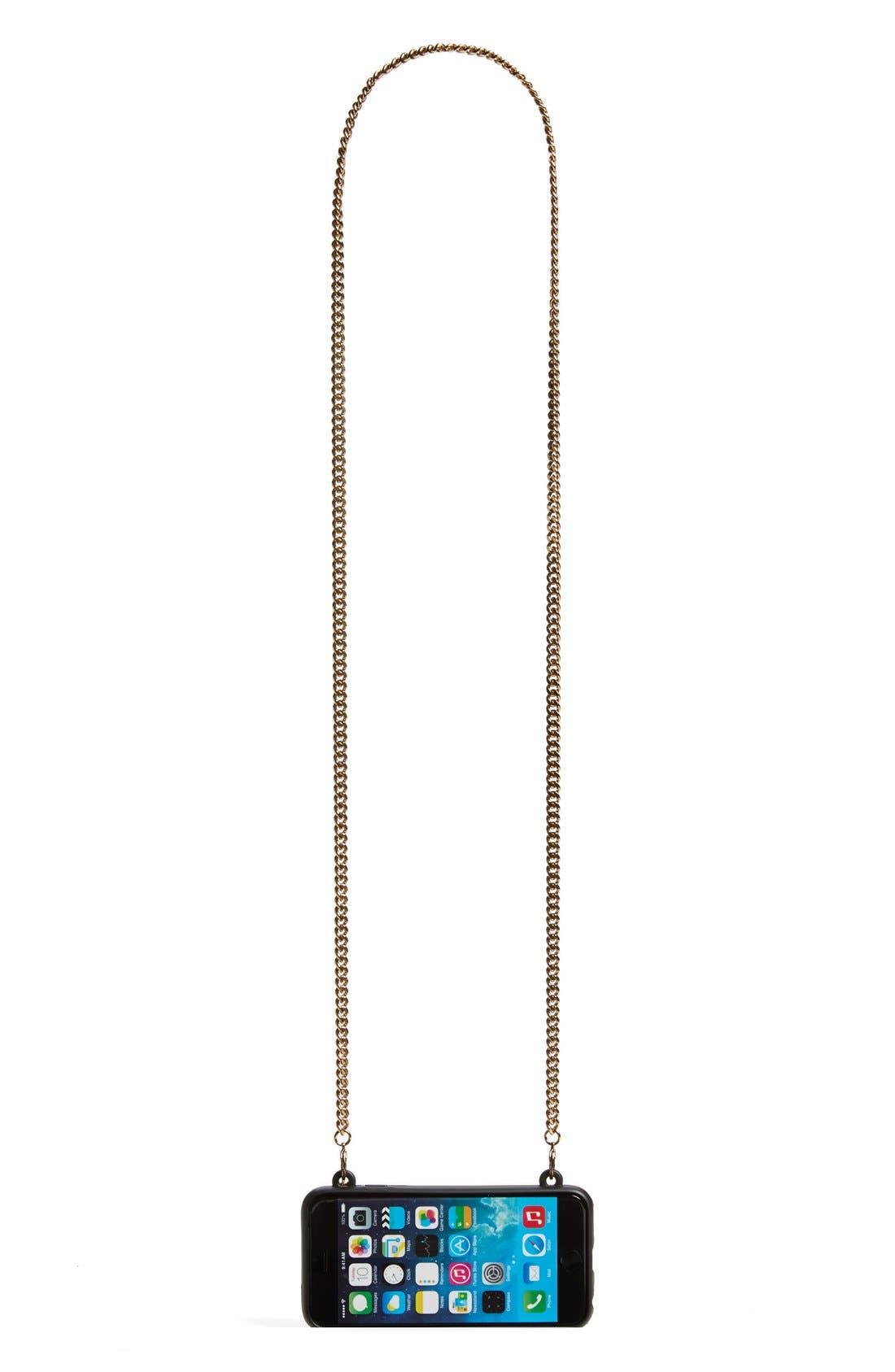 'Stella' iPhone 6 & 6s Crossbody Chain Case,                             Alternate thumbnail 5, color,                             001
