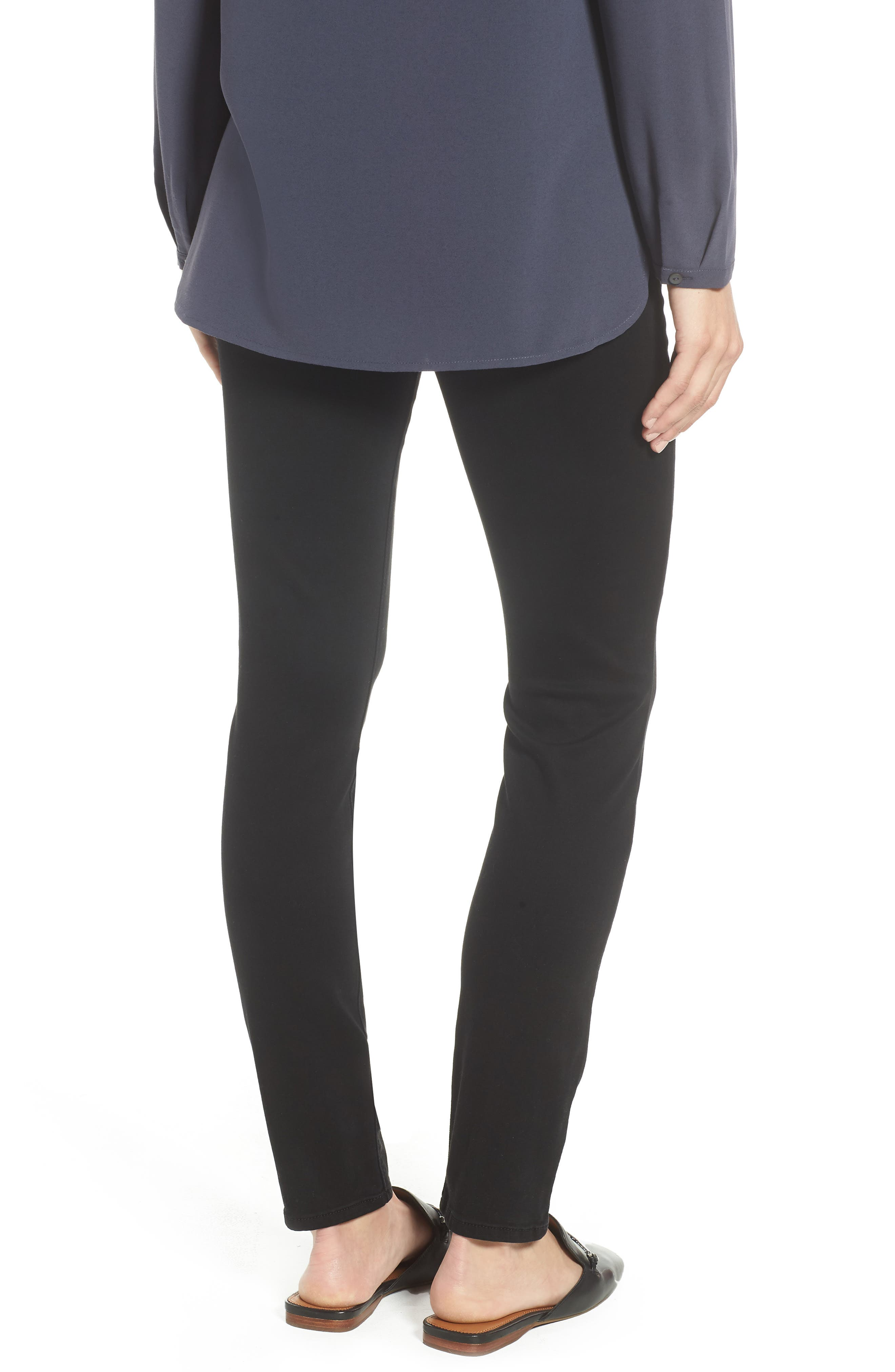 Comfort Skinny Denim Leggings,                             Alternate thumbnail 2, color,                             RICHE TOUCH BLACK NOIR