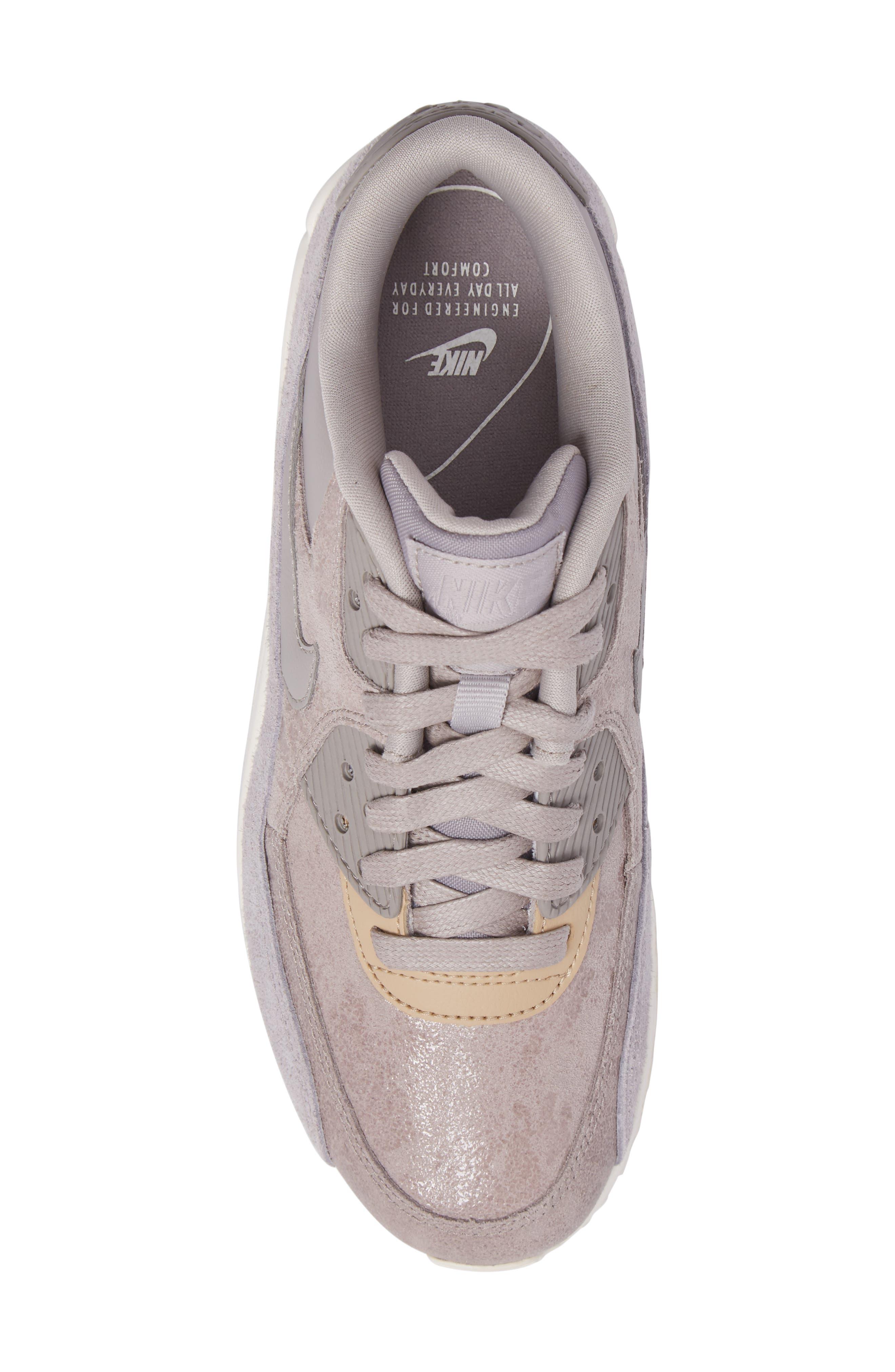 Air Max 90 Premium Sneaker,                             Alternate thumbnail 5, color,                             020