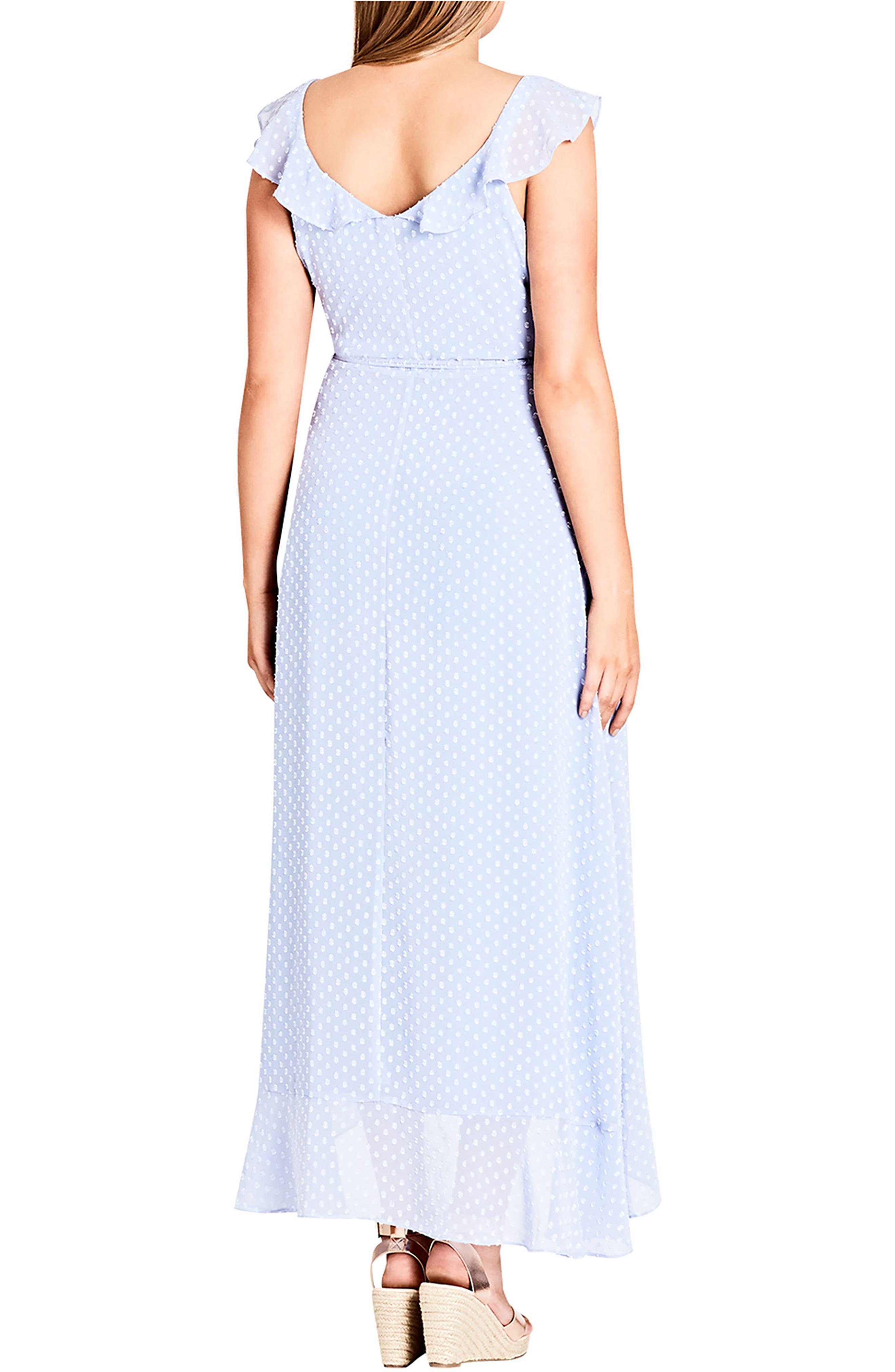 Dot Fil Coupé Ruffle Maxi Dress,                             Alternate thumbnail 2, color,                             514