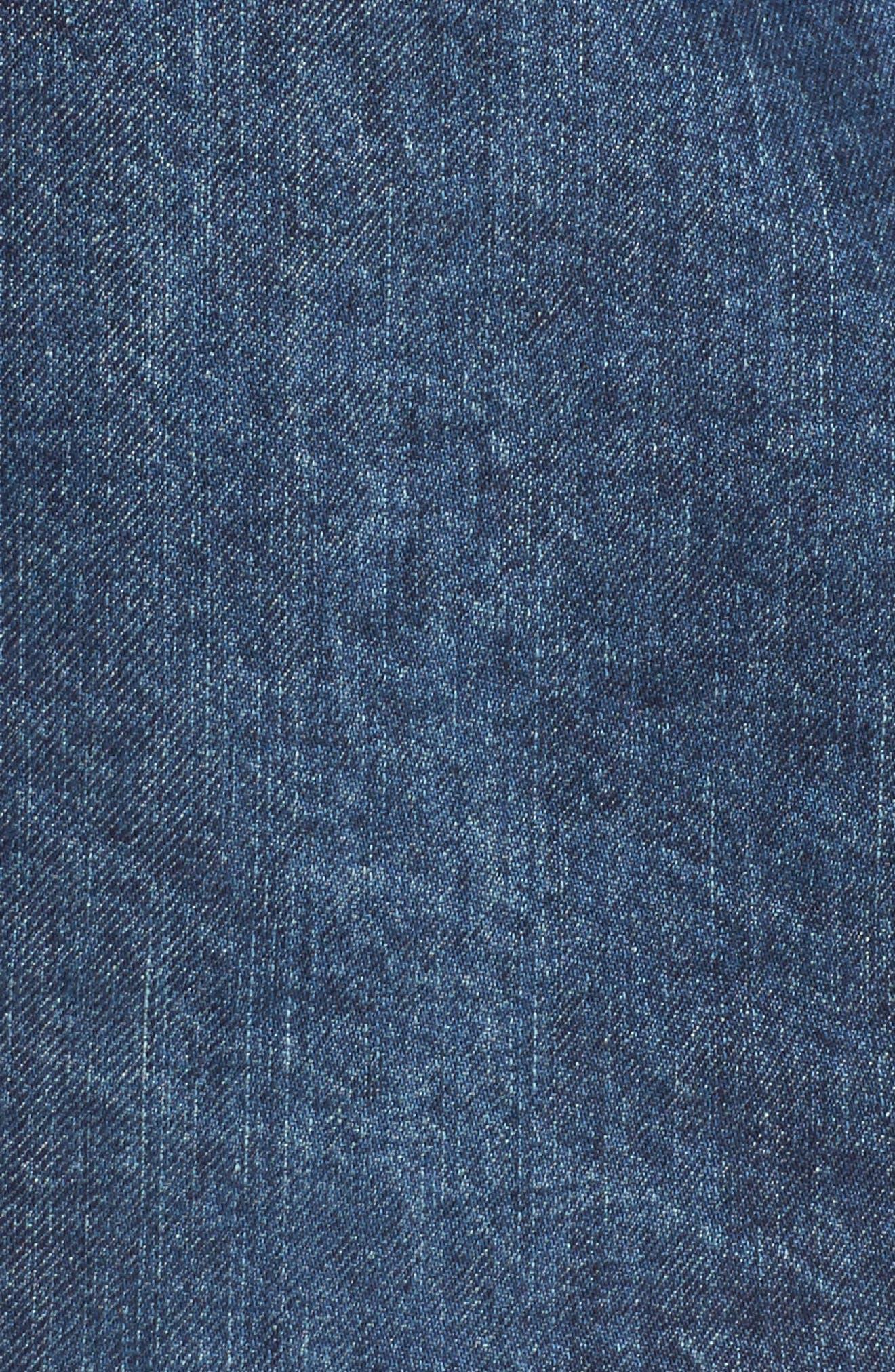 Erin Step Hem Denim Skirt,                             Alternate thumbnail 5, color,                             404