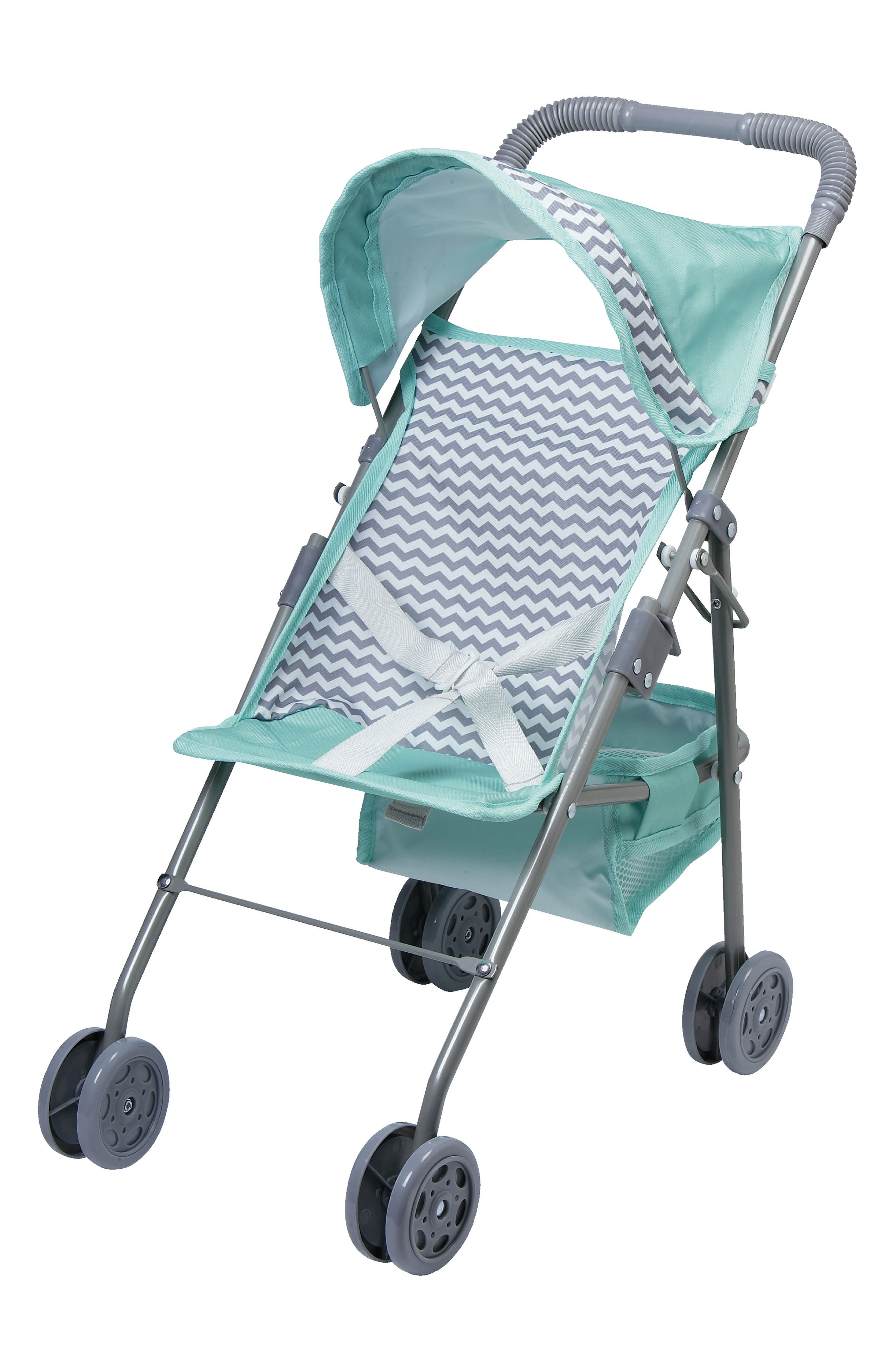 Girls Adora Chevron Patterned Medium Doll Umbrella Stroller
