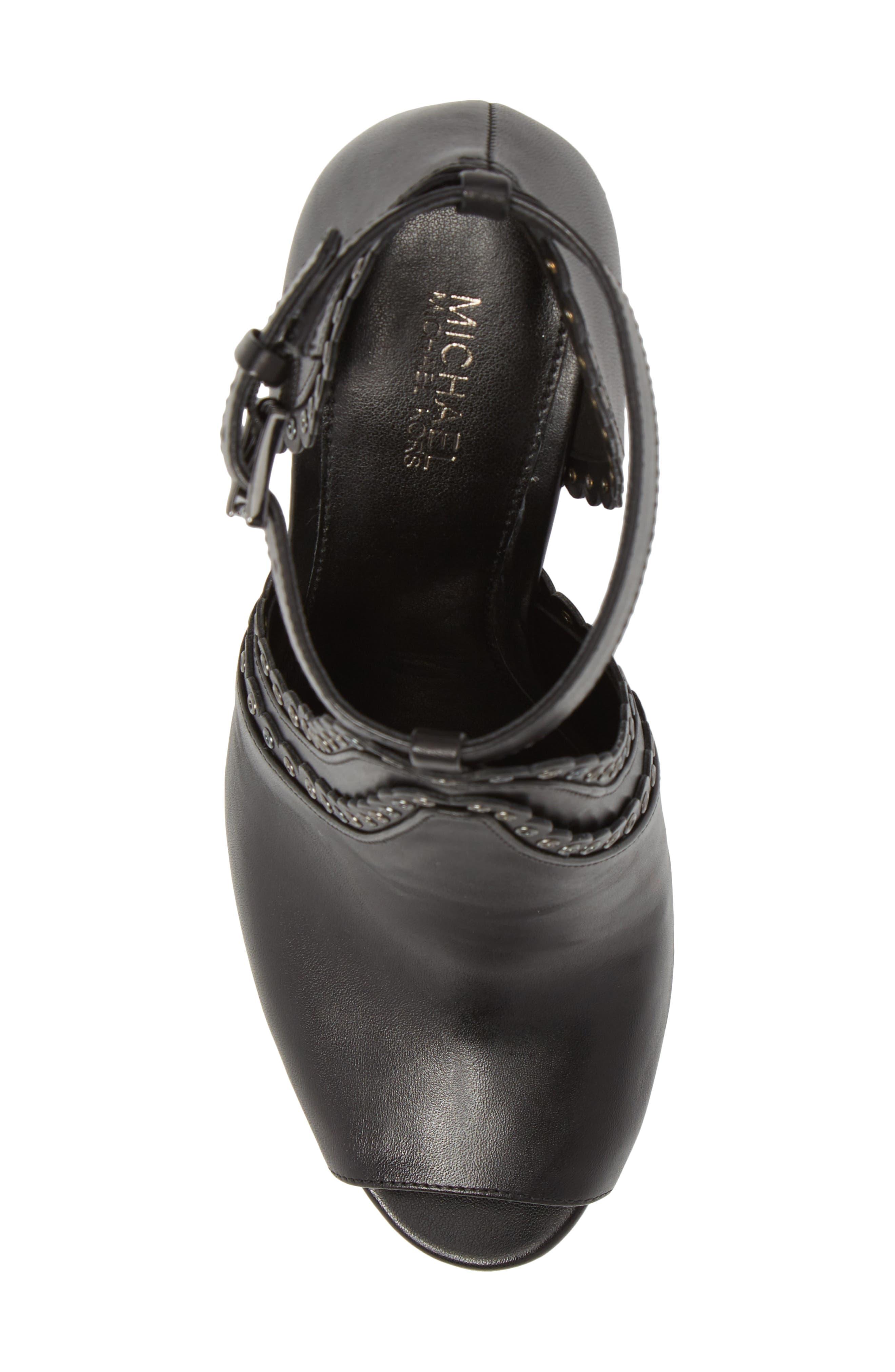 Jessie Ankle Strap Sandal,                             Alternate thumbnail 5, color,                             001