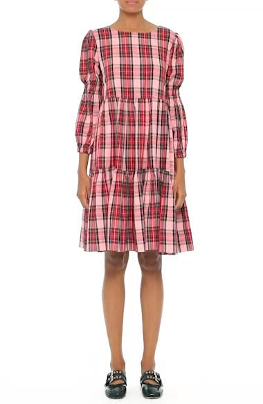 Alternate Video 7  - Molly Goddard Martha Tartan Dress