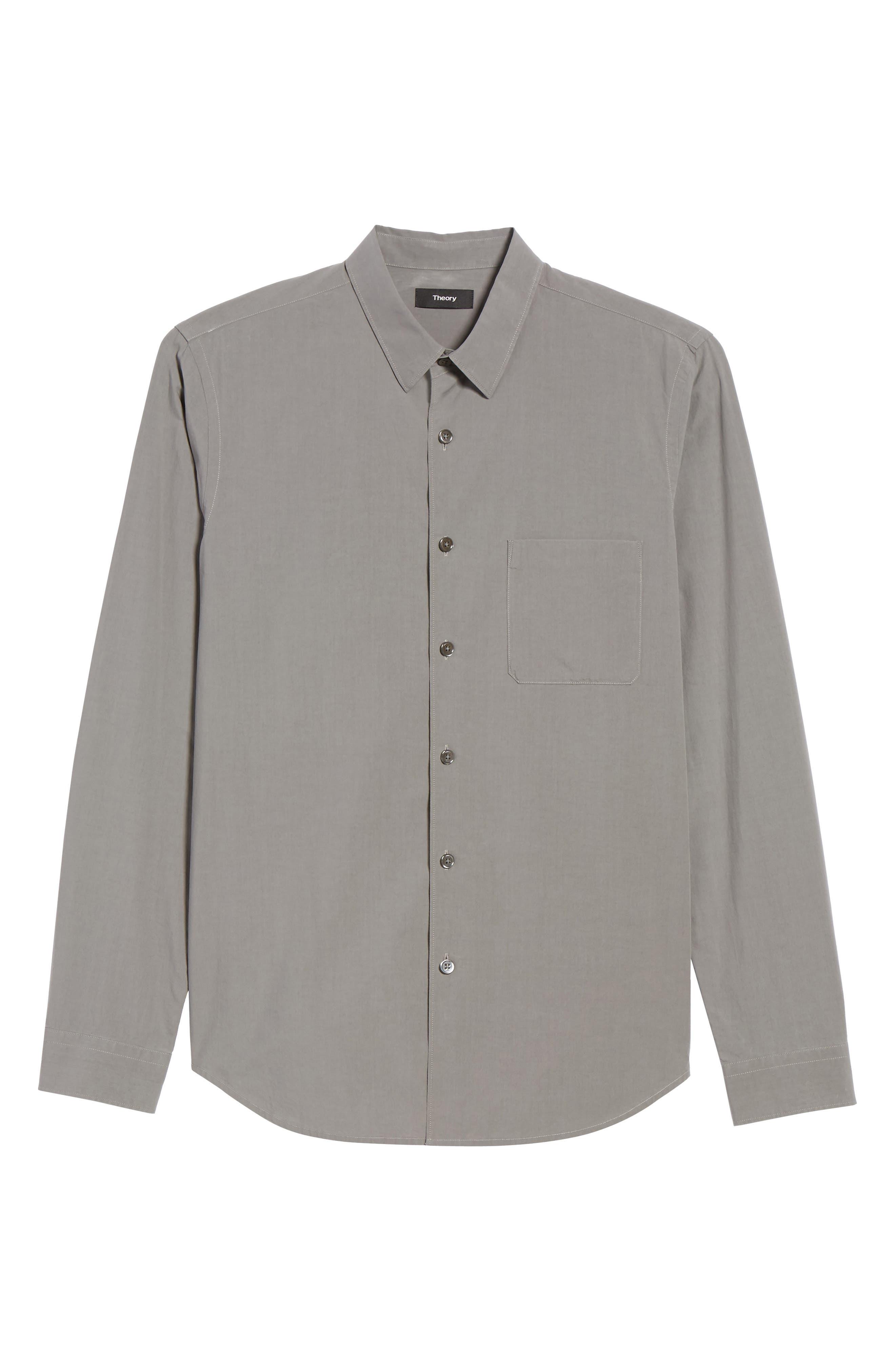 Rammy Trim Fit Solid Sport Shirt,                             Alternate thumbnail 6, color,                             020