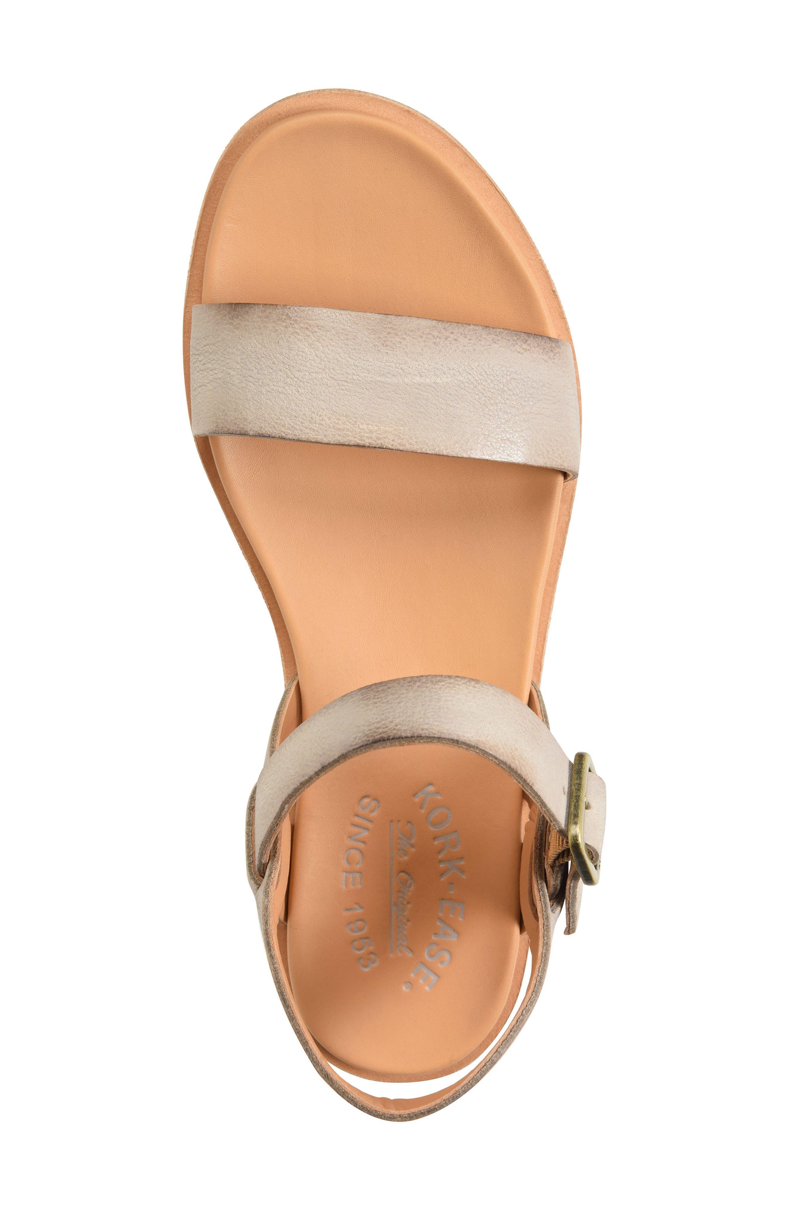 KORK-EASE<SUP>®</SUP>,                             Yucca Sandal,                             Alternate thumbnail 5, color,                             GREY LEATHER
