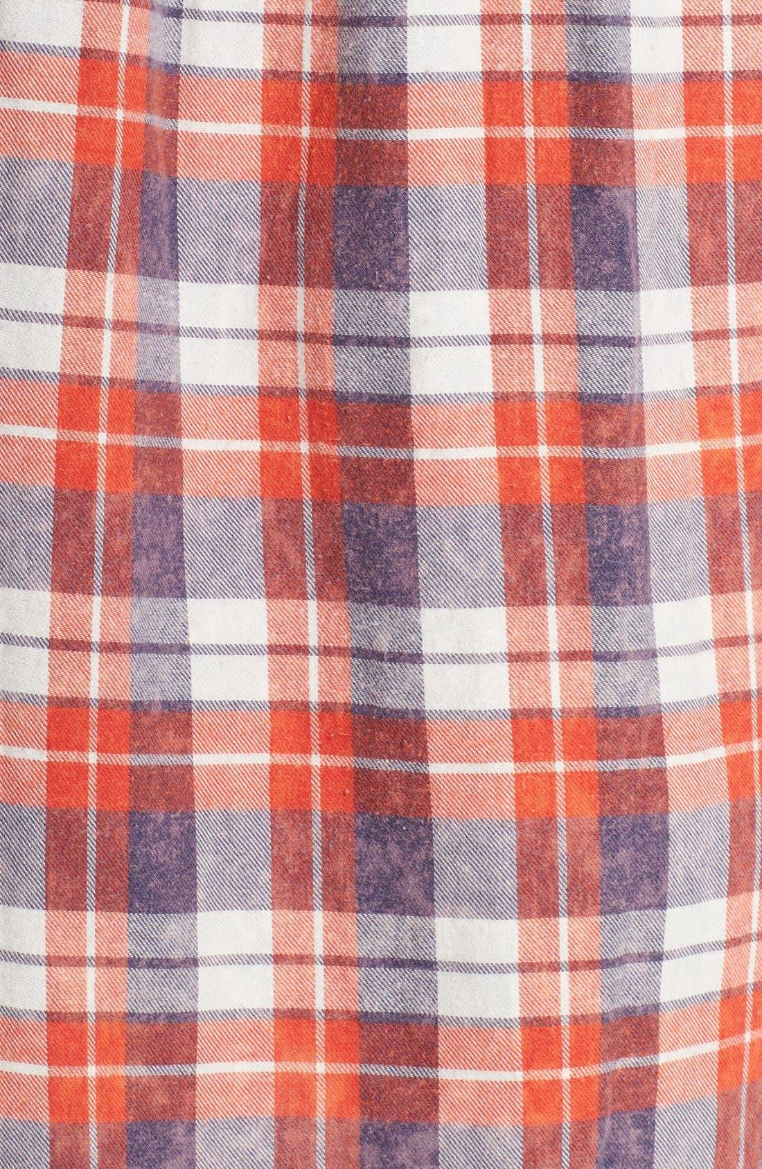 Plaid Cotton Blend Nightshirt,                             Alternate thumbnail 38, color,