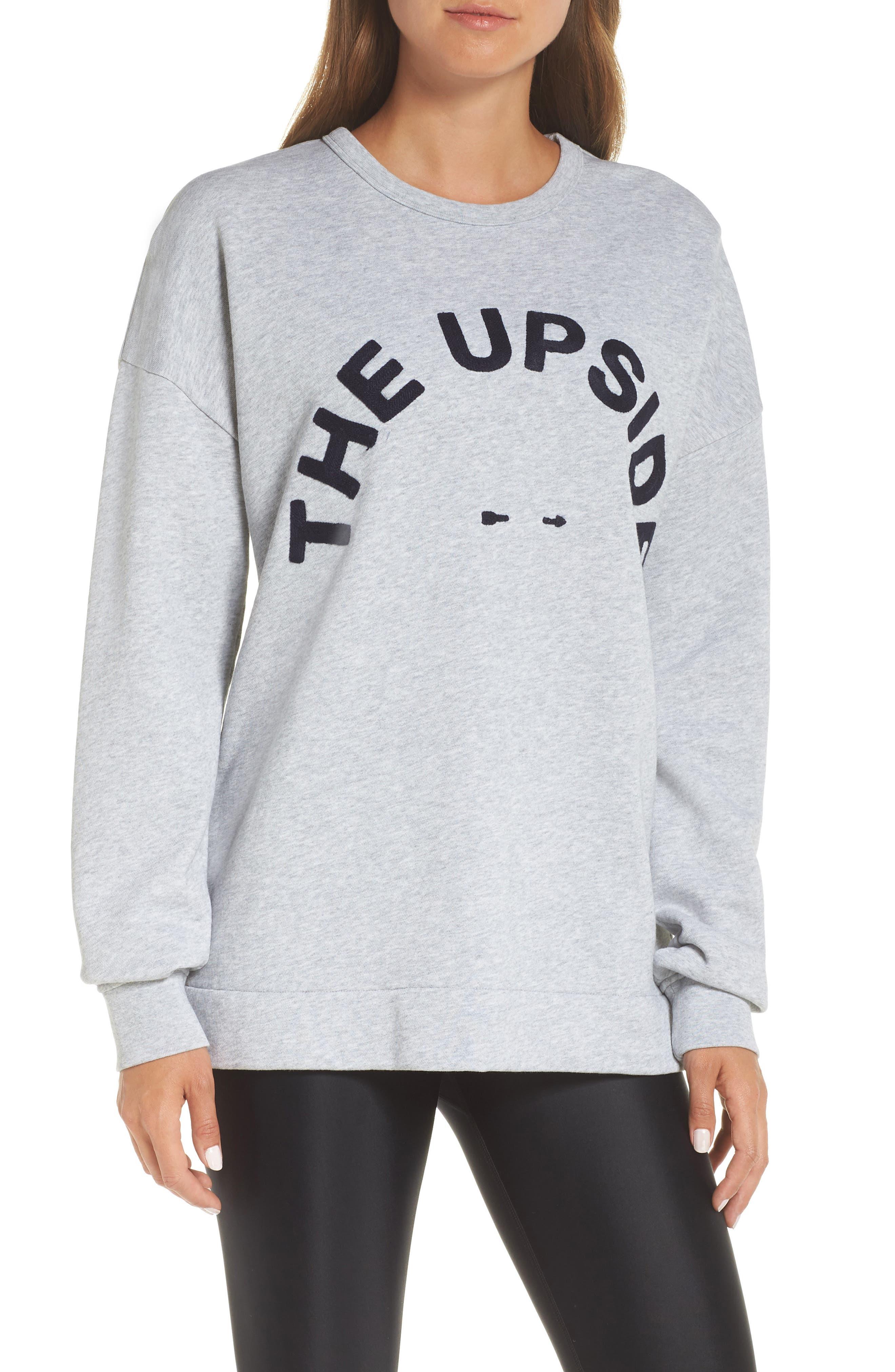 Club55 Cutout Back Sweatshirt,                             Main thumbnail 1, color,                             GREY MARLE