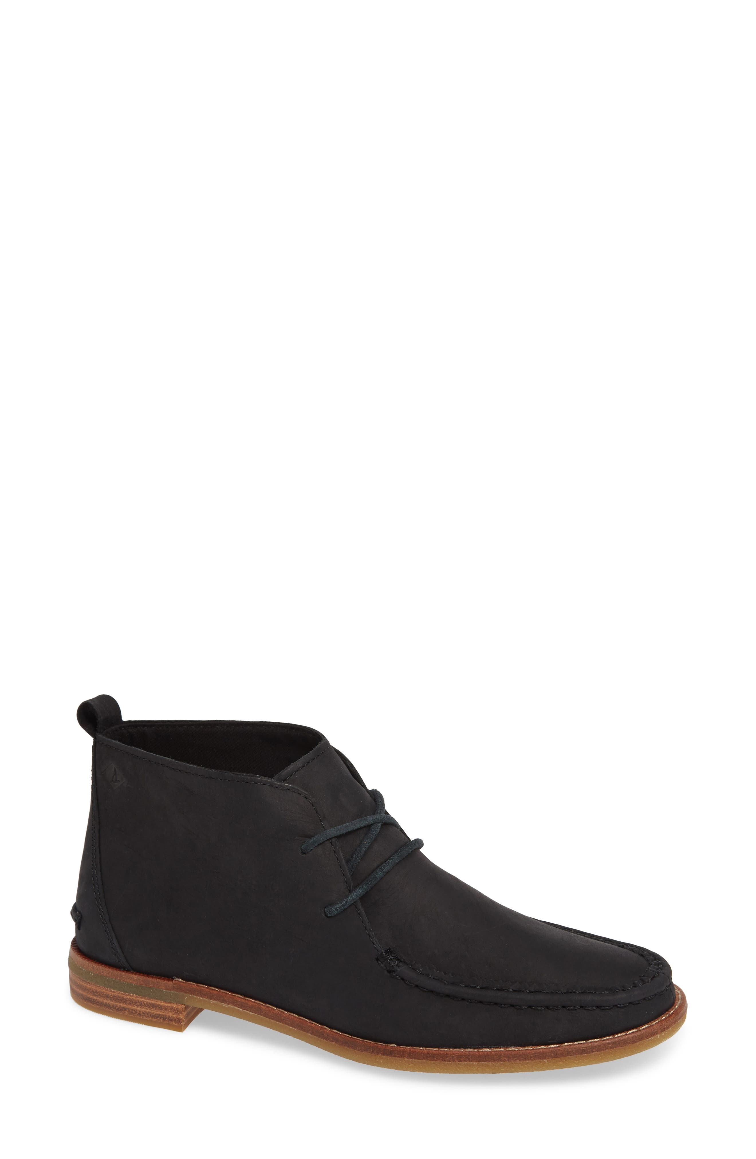 Seaport Tahoe Chukka Bootie,                             Main thumbnail 1, color,                             BLACK SUEDE