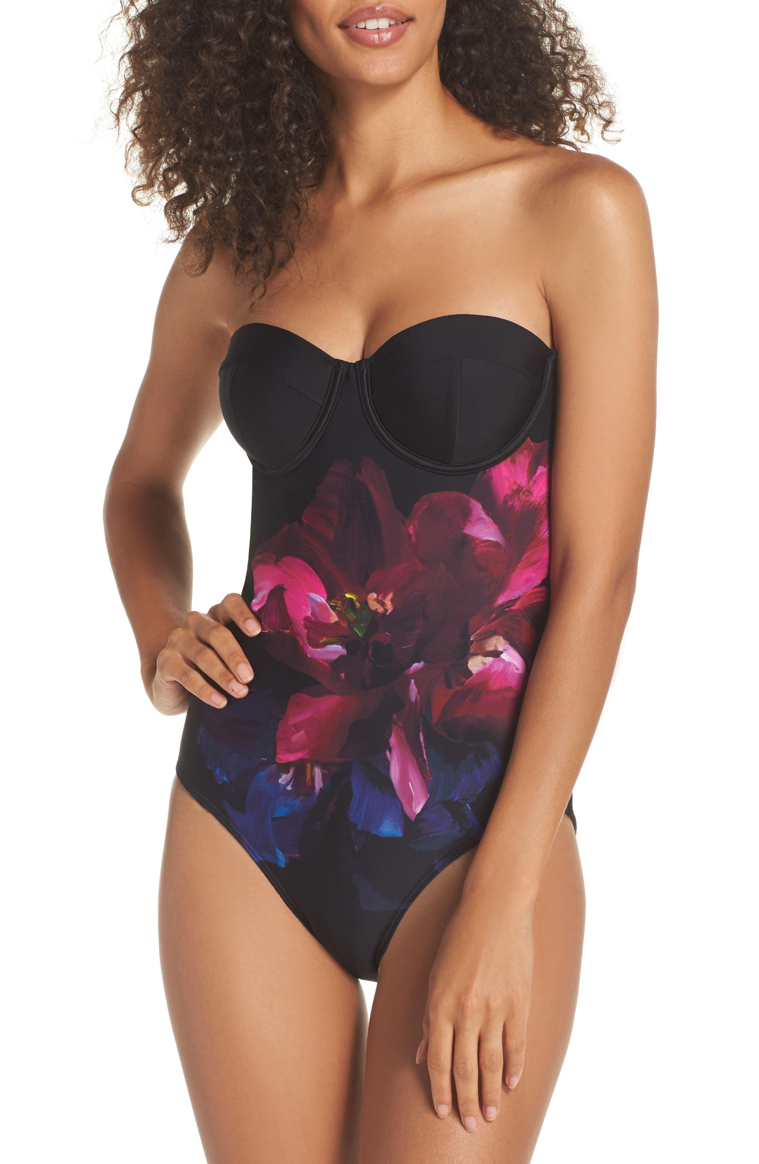 Imaja Impressionist Underwire One-Piece Swimsuit,                             Main thumbnail 1, color,                             001