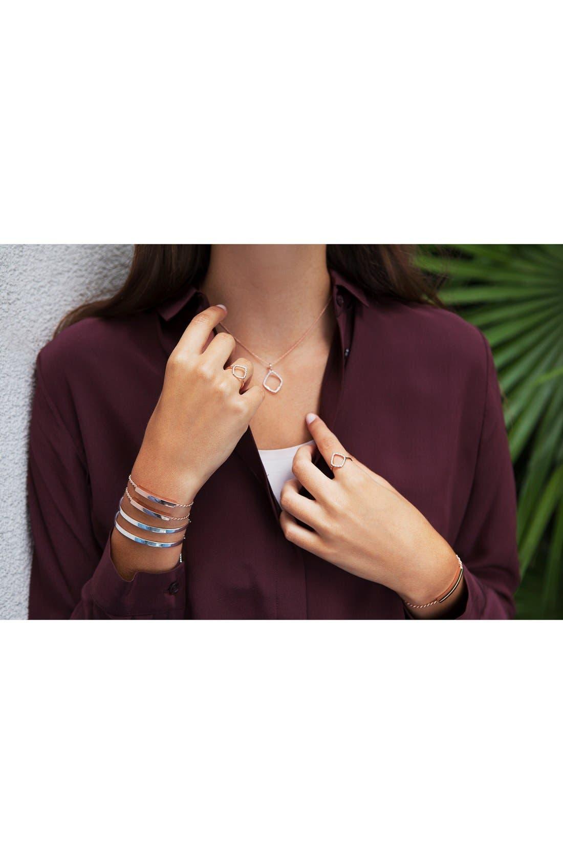 Engravable Linear Friendship Chain Bracelet,                             Alternate thumbnail 3, color,                             SILVER