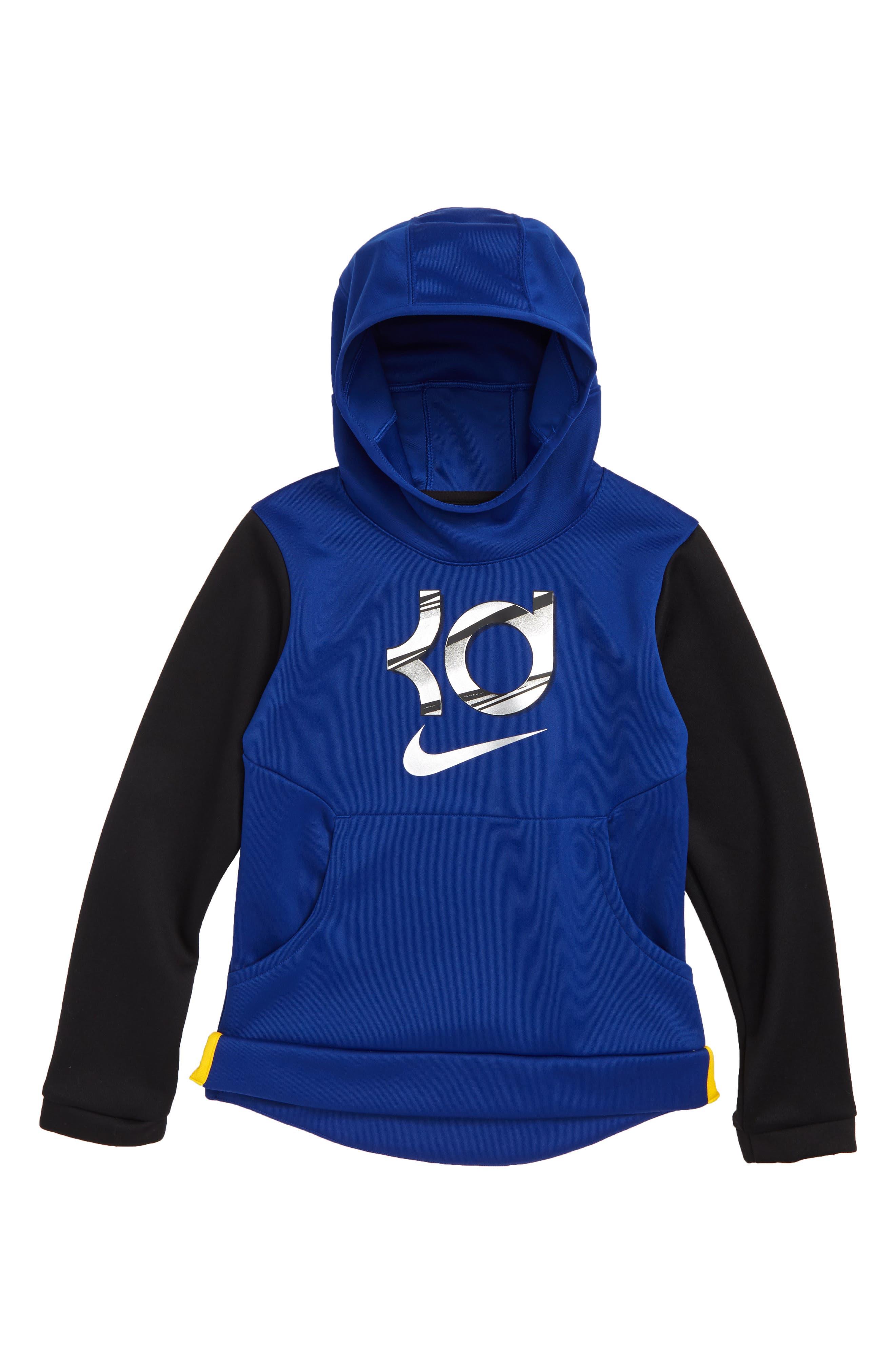 KD Dry Hoodie,                         Main,                         color, RUSH BLUE/ BLACK