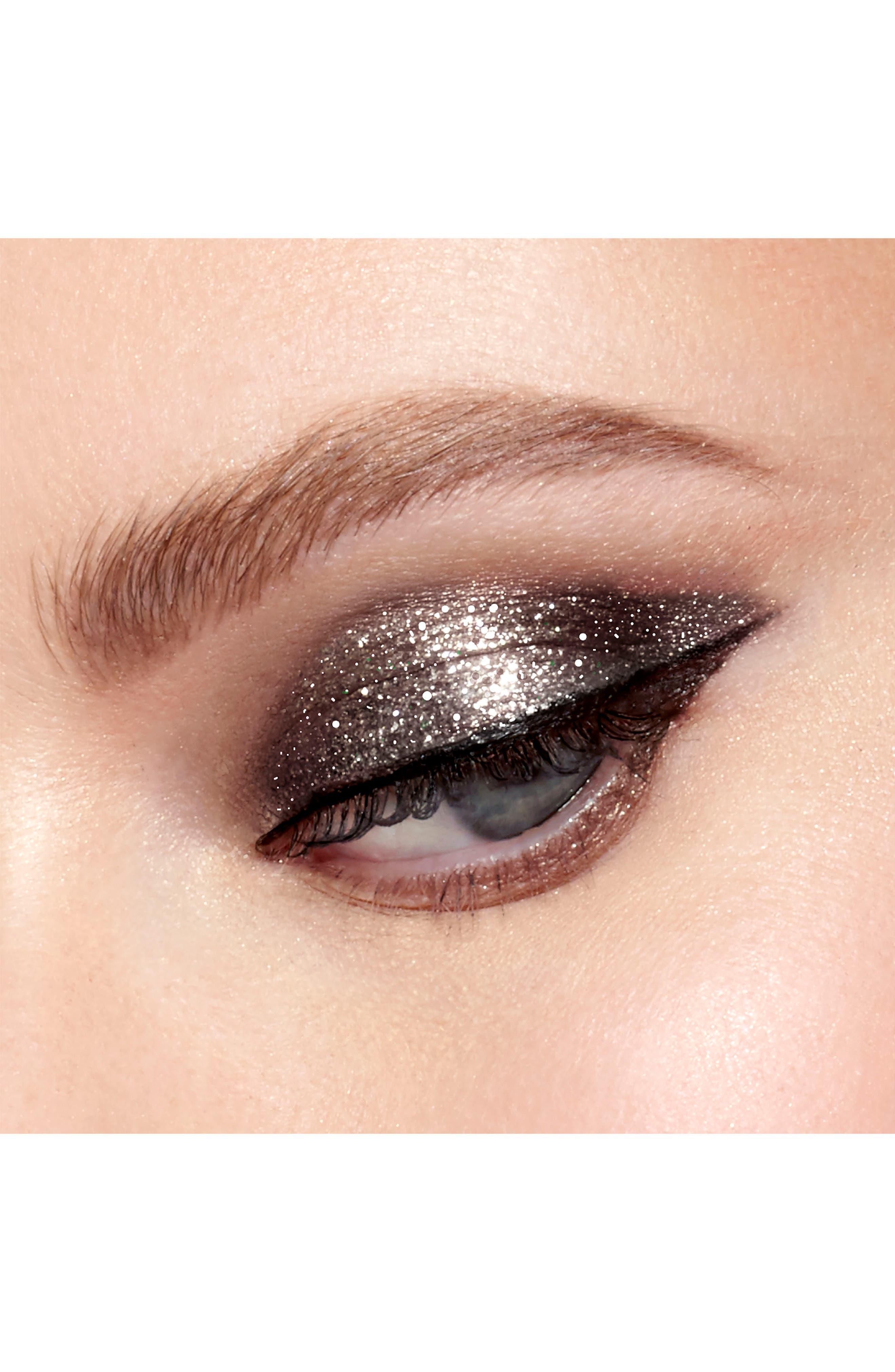 Magnificent Metals Glitter & Glow Liquid Eyeshadow,                             Alternate thumbnail 3, color,                             MOLTEN MIDNIGHT