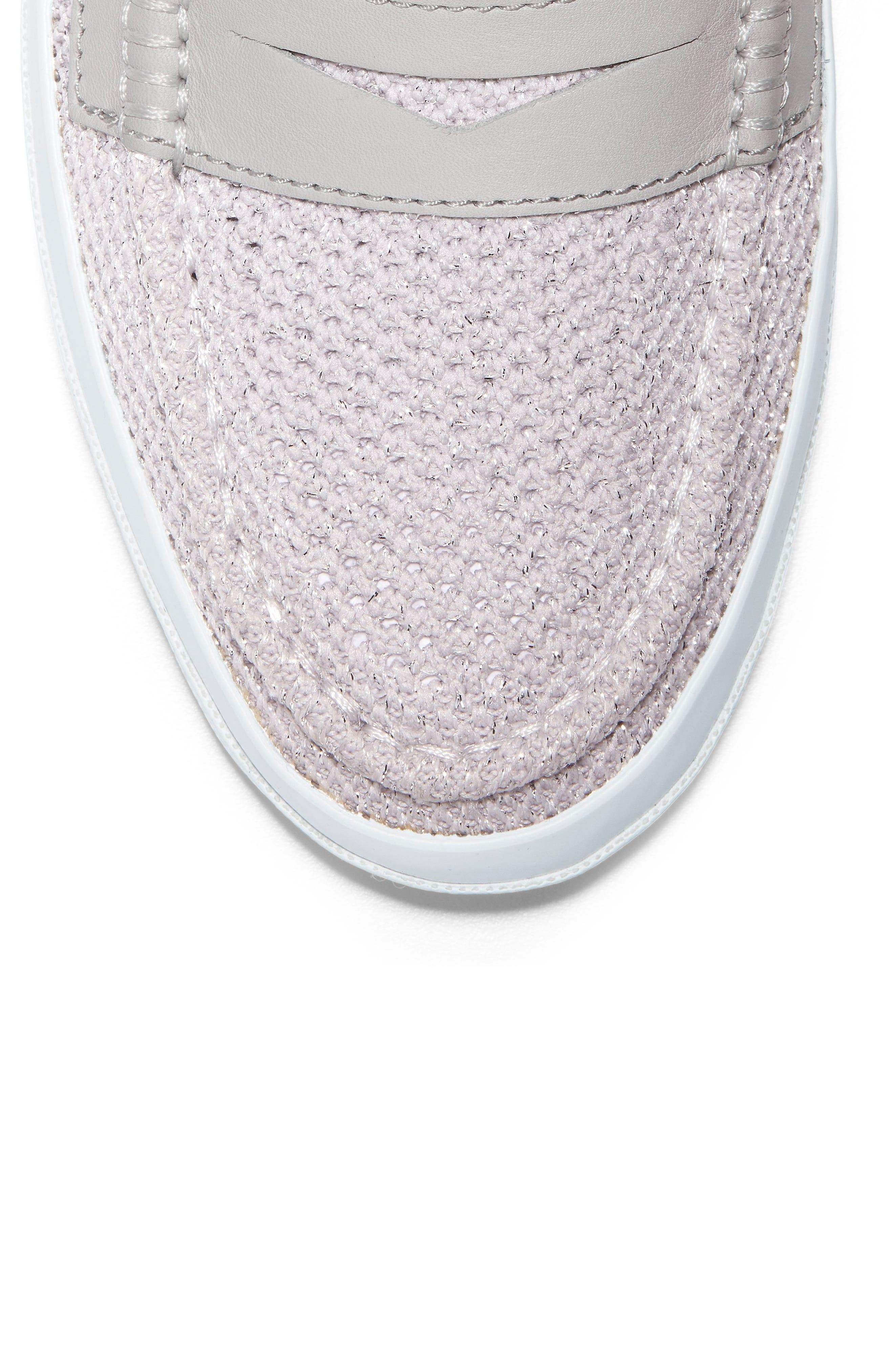 Pinch Stitchlite<sup>™</sup> Loafer,                             Alternate thumbnail 7, color,                             SILVER/ WHITE LEATHER