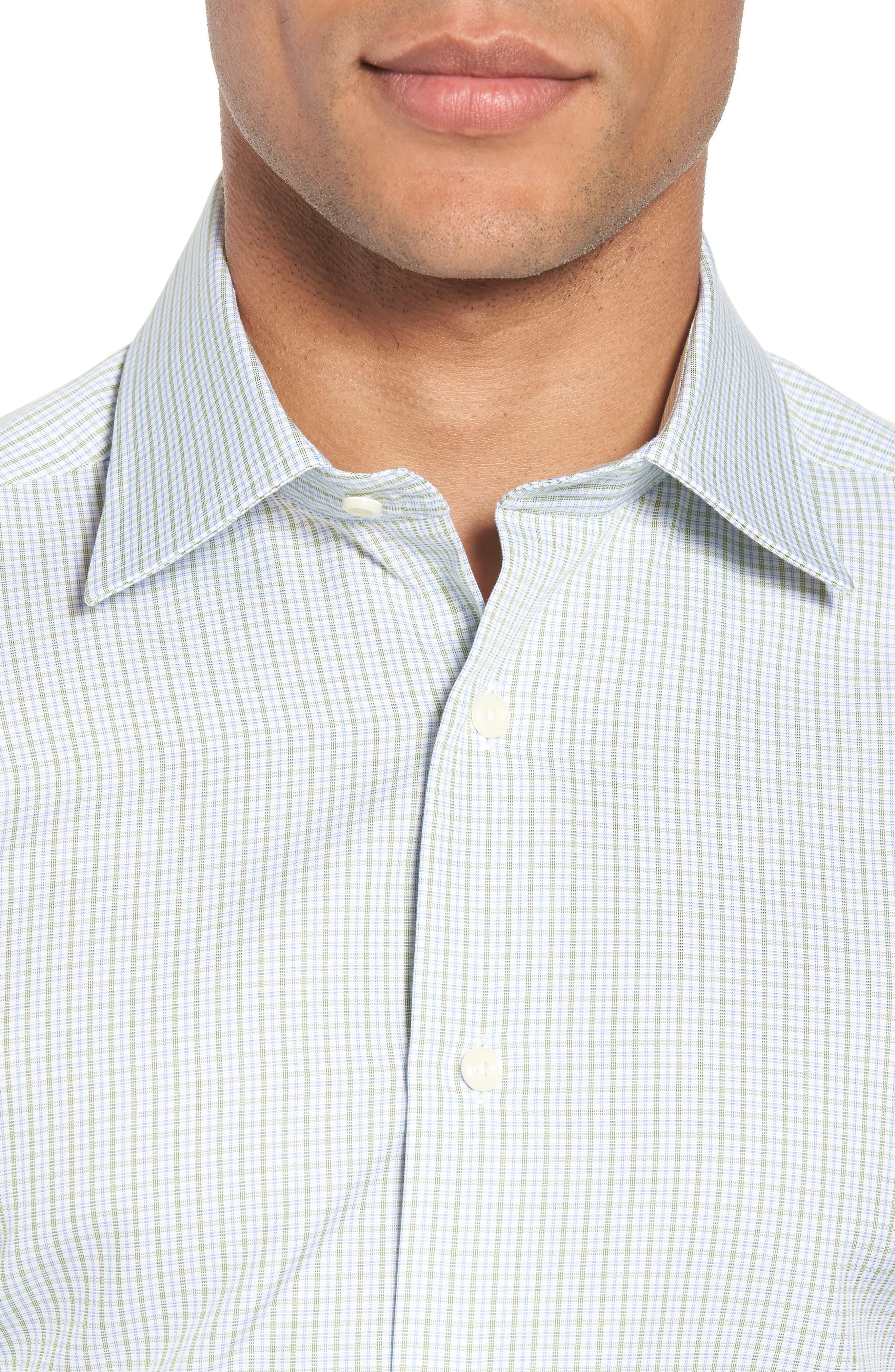 Trim Fit Check Dress Shirt,                             Alternate thumbnail 2, color,                             310