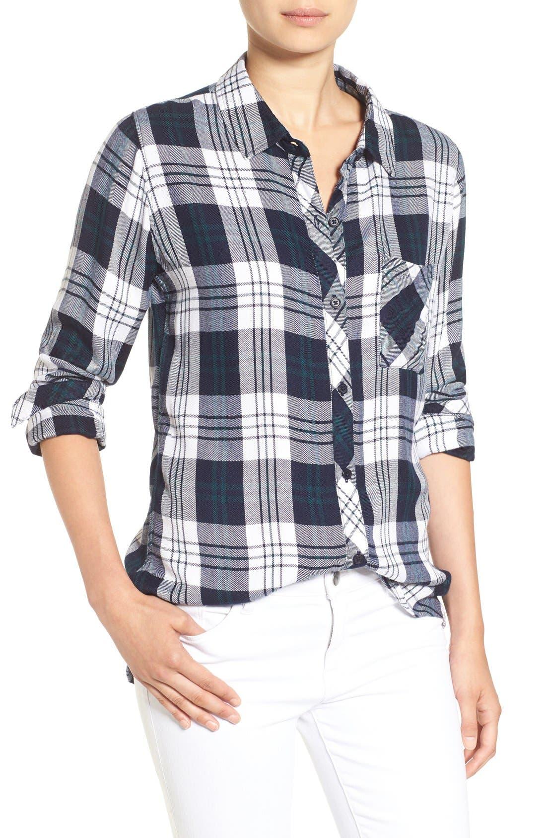 Hunter Plaid Shirt,                             Main thumbnail 114, color,