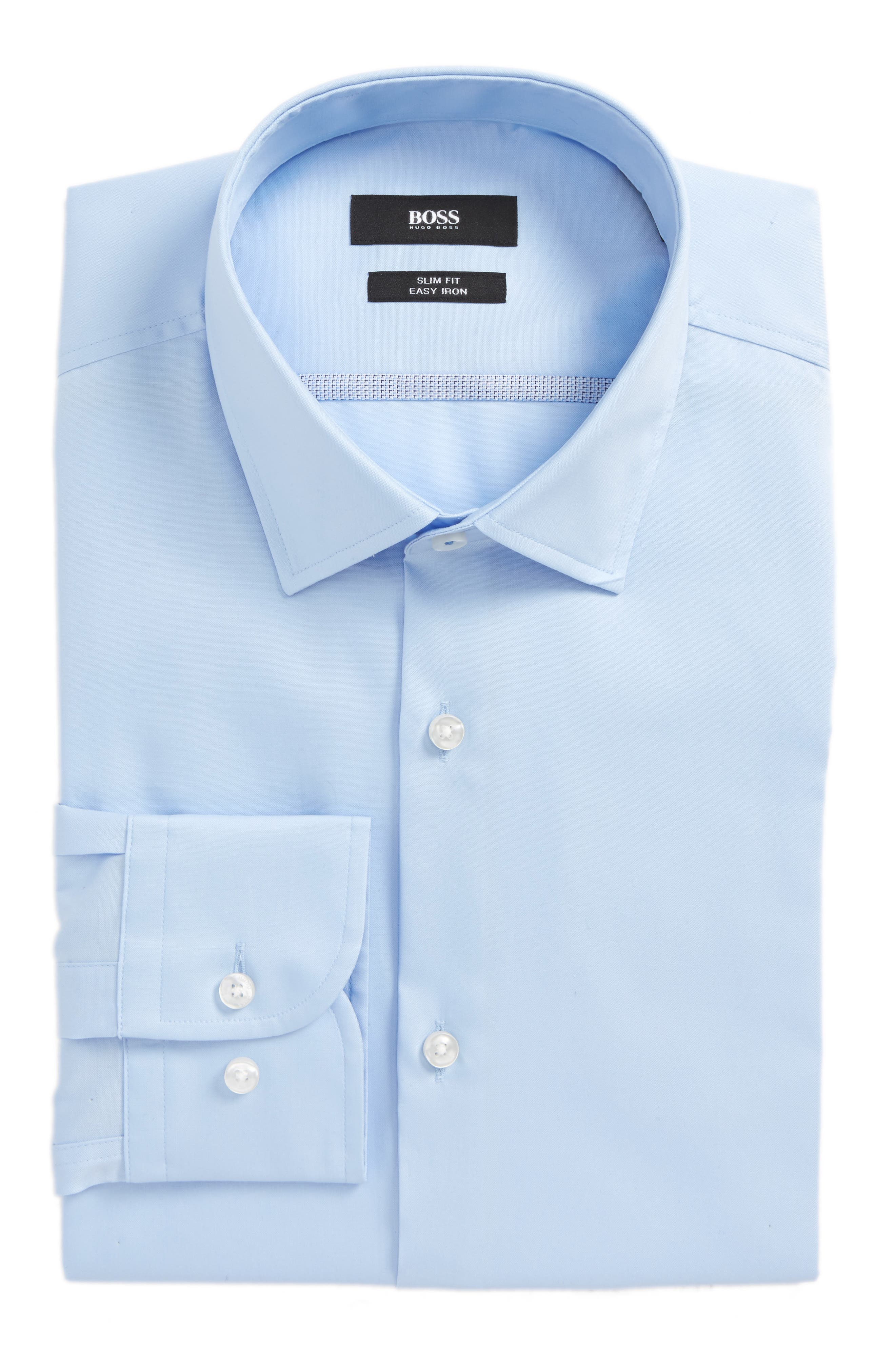 Jerris Slim Fit Easy Iron Solid Dress Shirt,                             Main thumbnail 2, color,